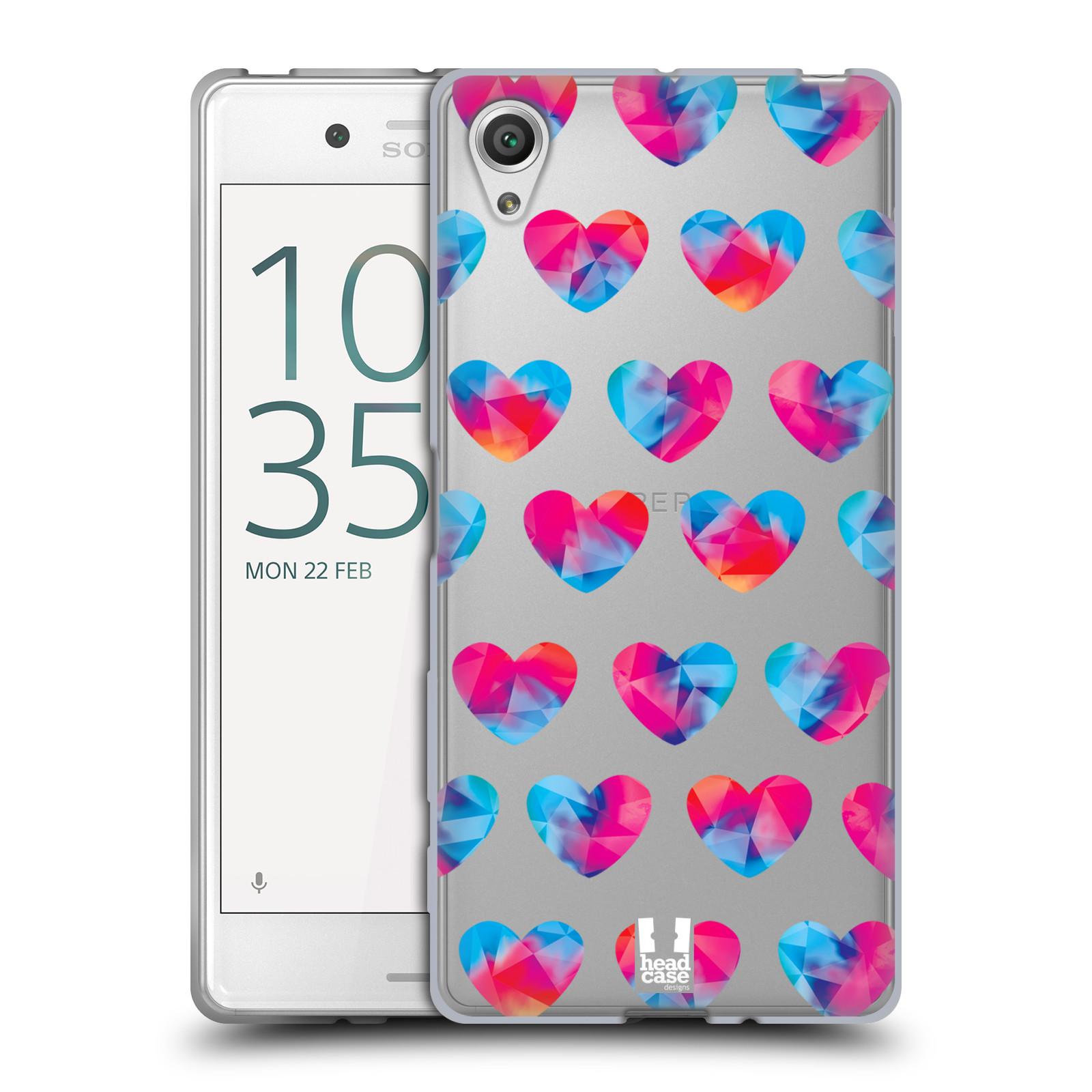 Silikonové pouzdro na mobil Sony Xperia X - Head Case - Srdíčka hrající barvami