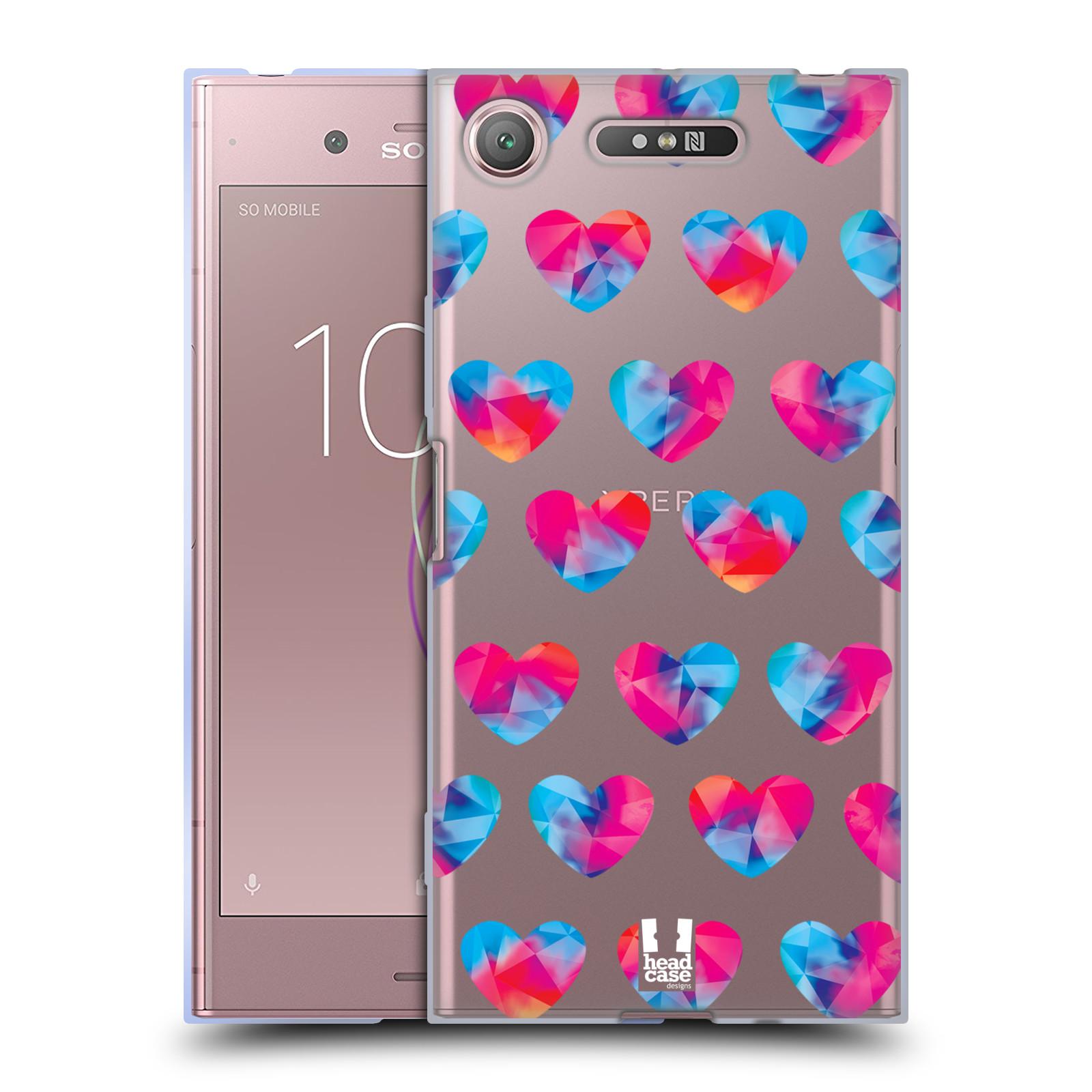Silikonové pouzdro na mobil Sony Xperia XZ1 - Head Case - Srdíčka hrající barvami