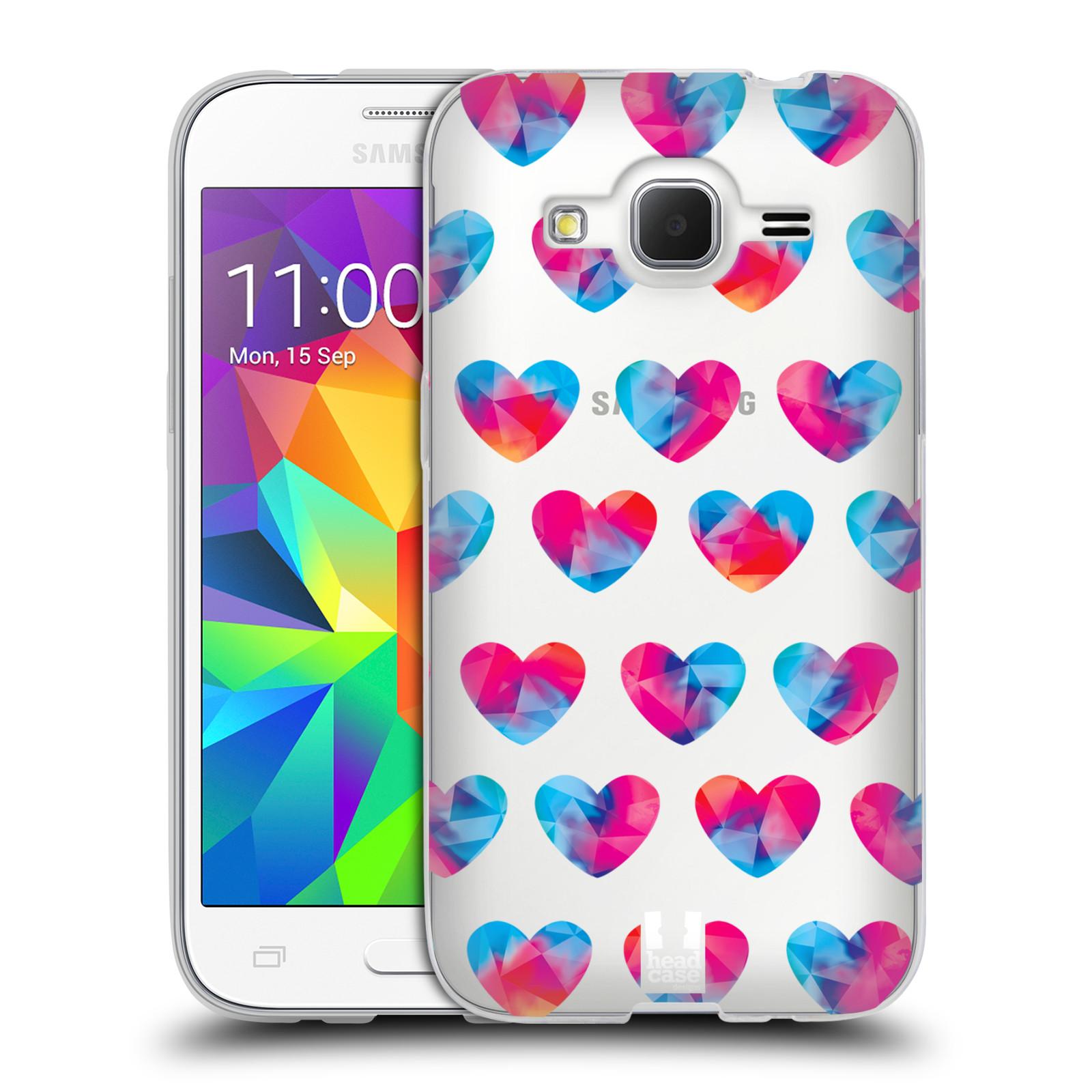 Silikonové pouzdro na mobil Samsung Galaxy Core Prime LTE - Head Case - Srdíčka hrající barvami
