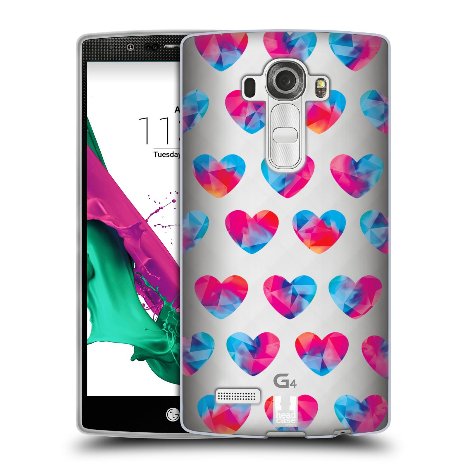 Silikonové pouzdro na mobil LG G4 - Head Case - Srdíčka hrající barvami