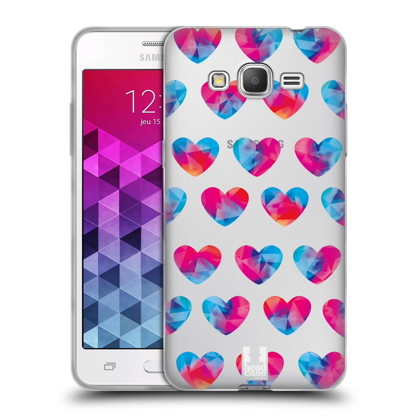 Silikonové pouzdro na mobil Samsung Galaxy Grand Prime - Head Case - Srdíčka hrající barvami