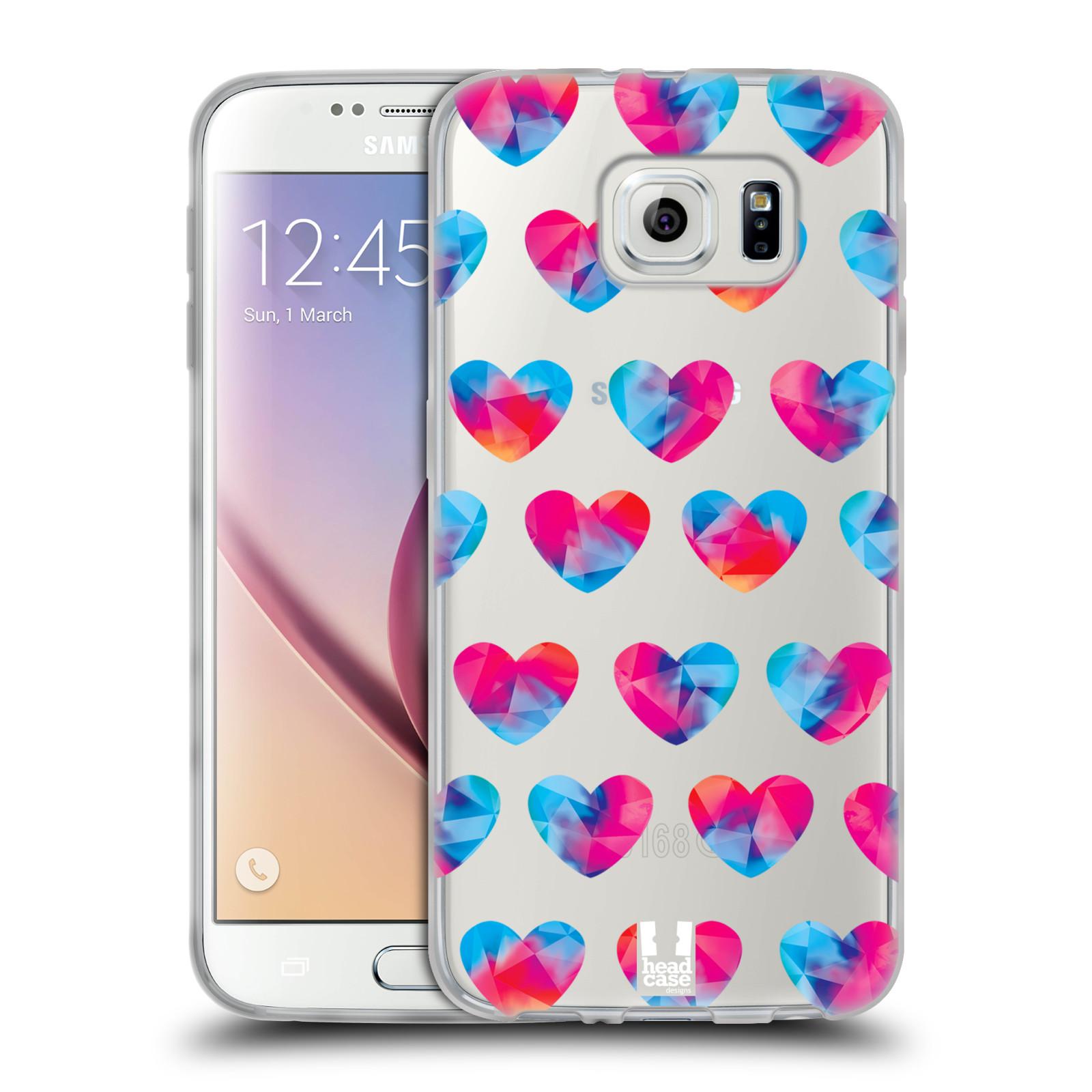 Silikonové pouzdro na mobil Samsung Galaxy S6 - Head Case - Srdíčka hrající barvami