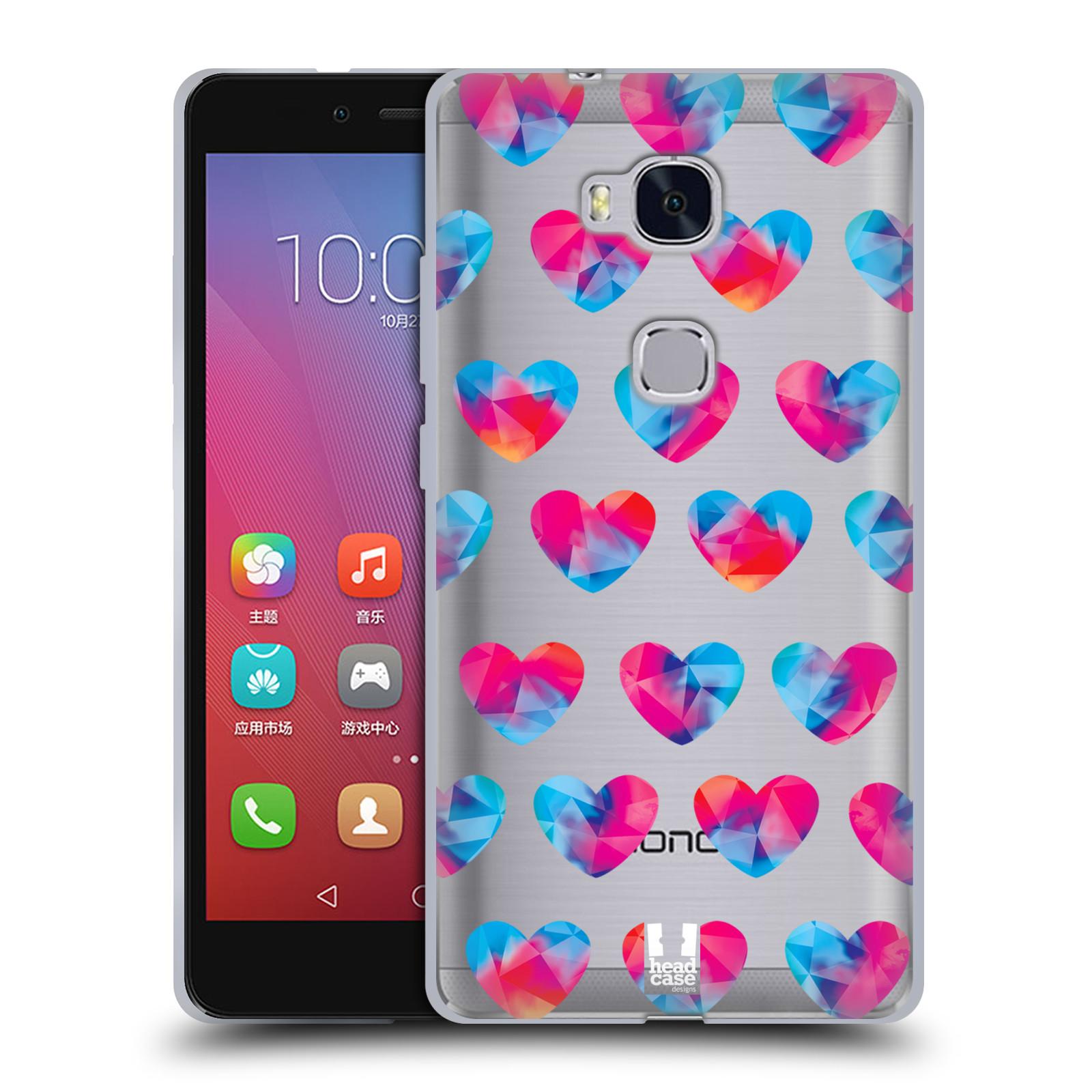 Silikonové pouzdro na mobil Honor 5X - Head Case - Srdíčka hrající barvami