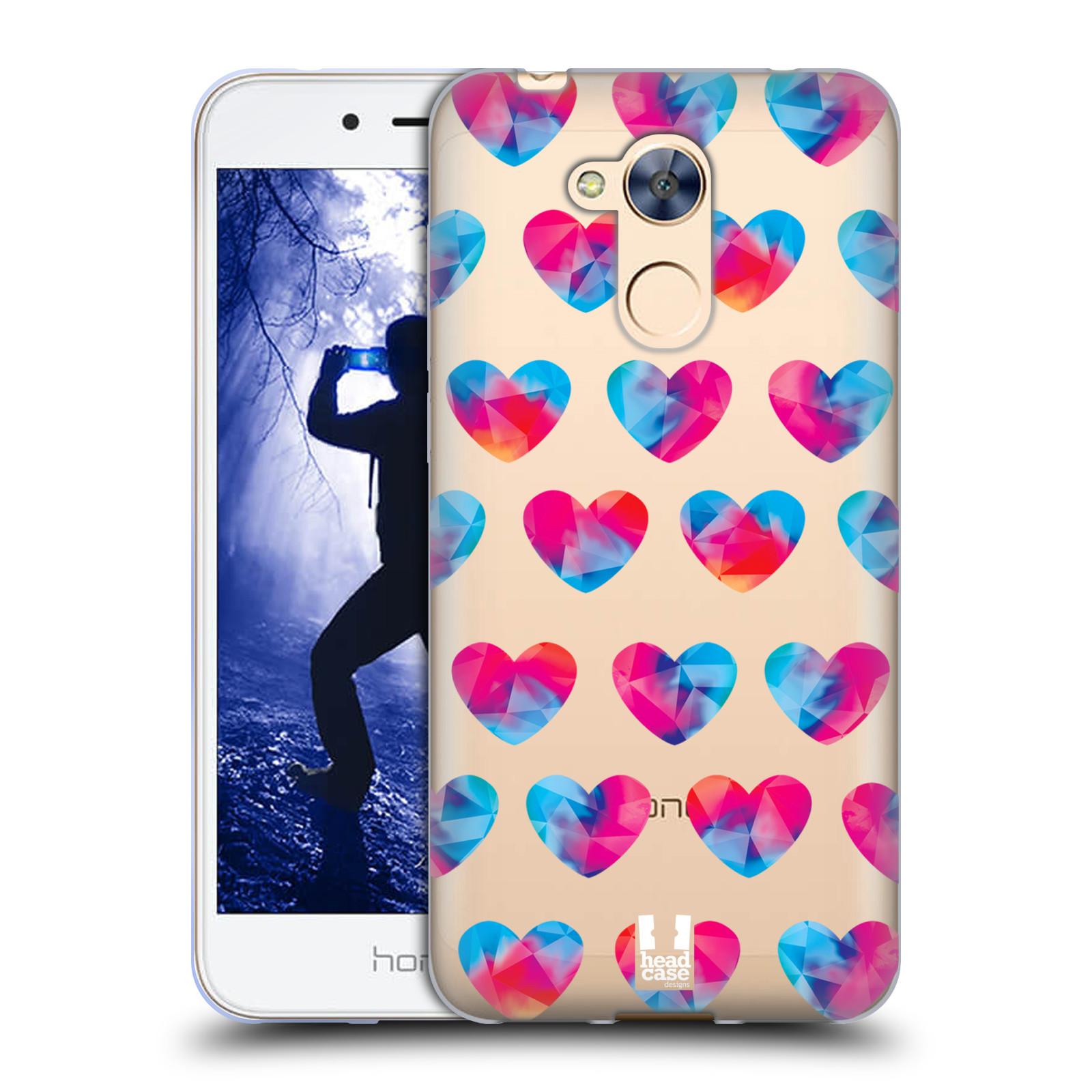 Silikonové pouzdro na mobil Honor 6A - Head Case - Srdíčka hrající barvami