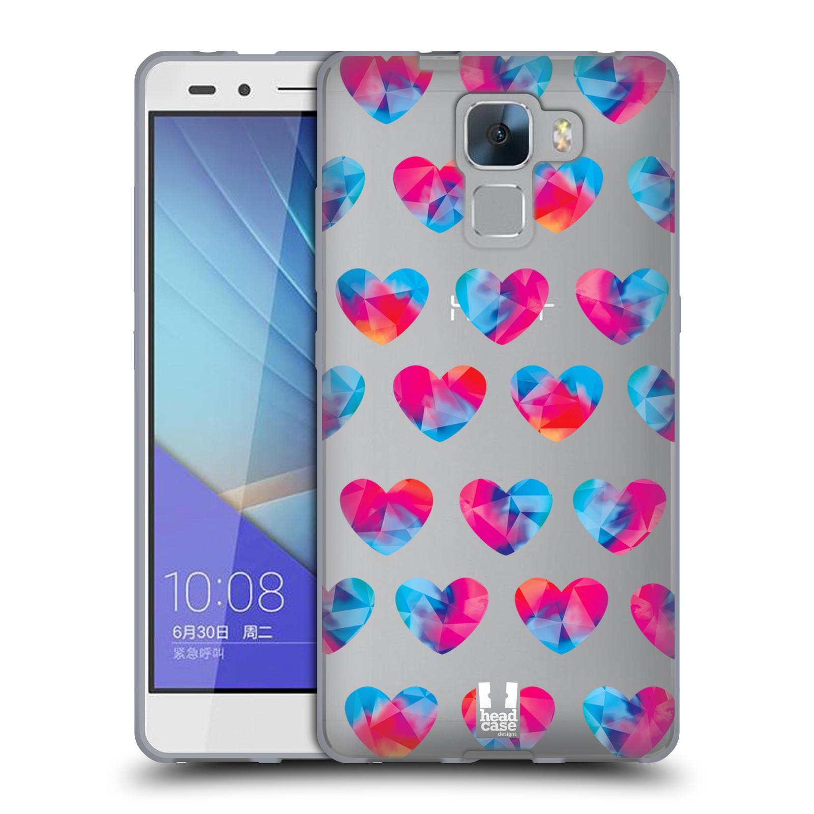 Silikonové pouzdro na mobil Honor 7 - Head Case - Srdíčka hrající barvami