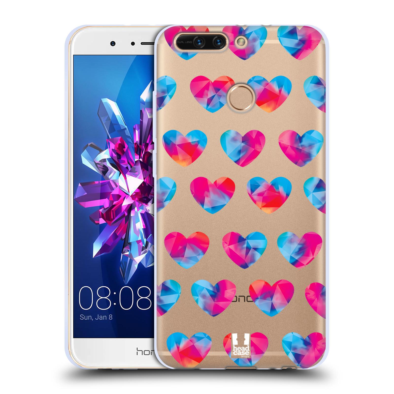 Silikonové pouzdro na mobil Honor 8 Pro - Head Case - Srdíčka hrající barvami