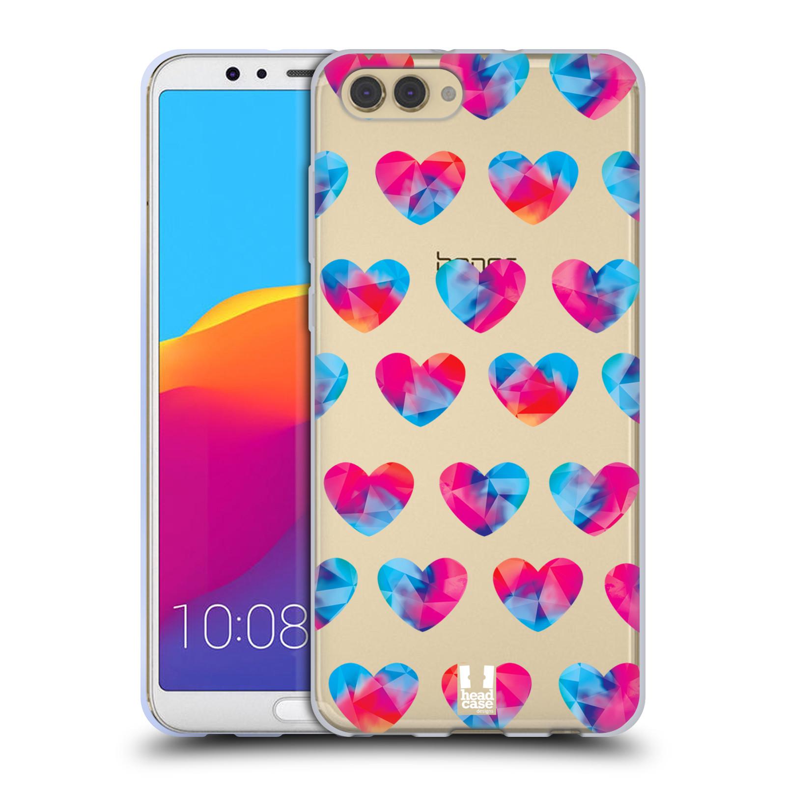 Silikonové pouzdro na mobil Honor View 10 - Head Case - Srdíčka hrající barvami
