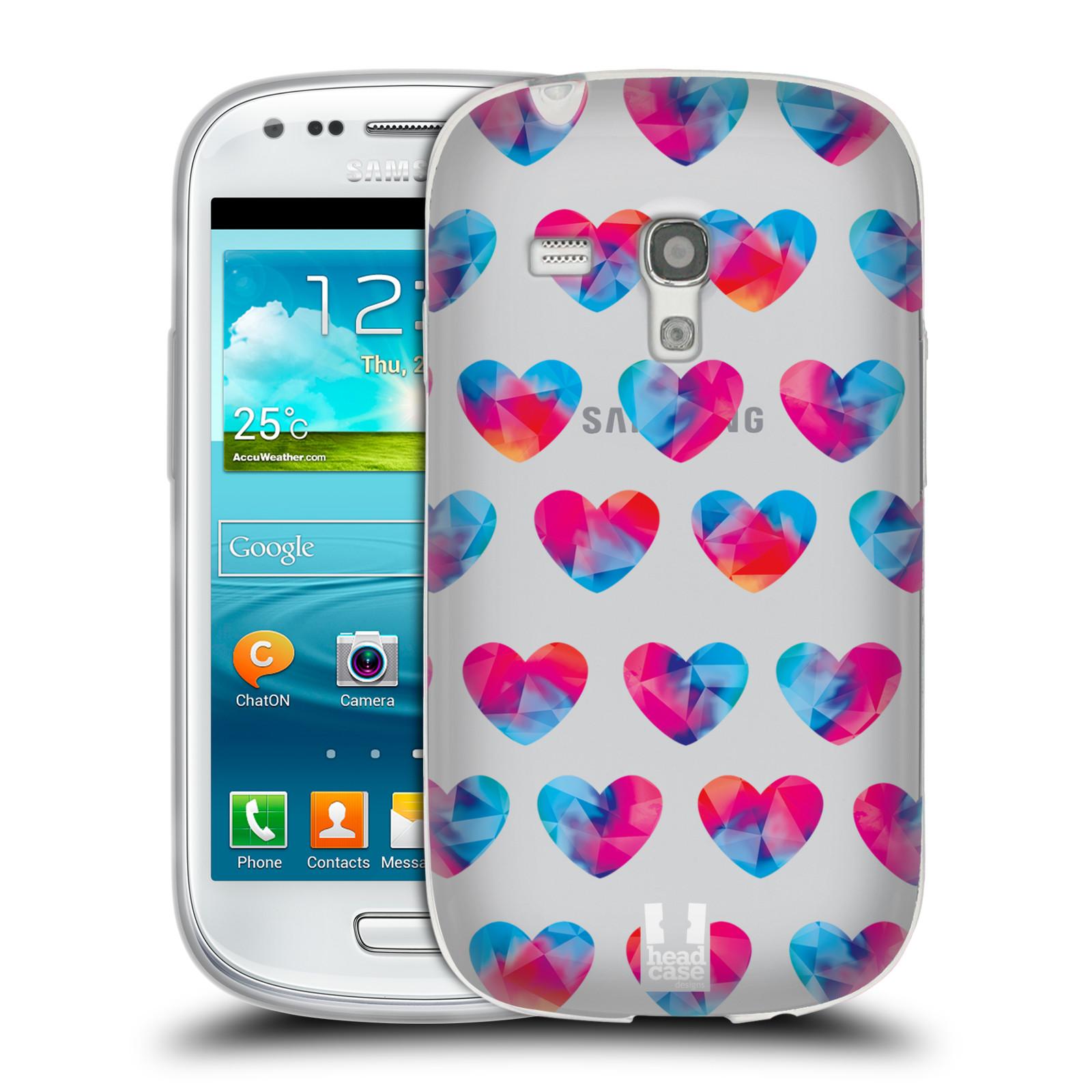 Silikonové pouzdro na mobil Samsung Galaxy S III Mini - Head Case - Srdíčka hrající barvami