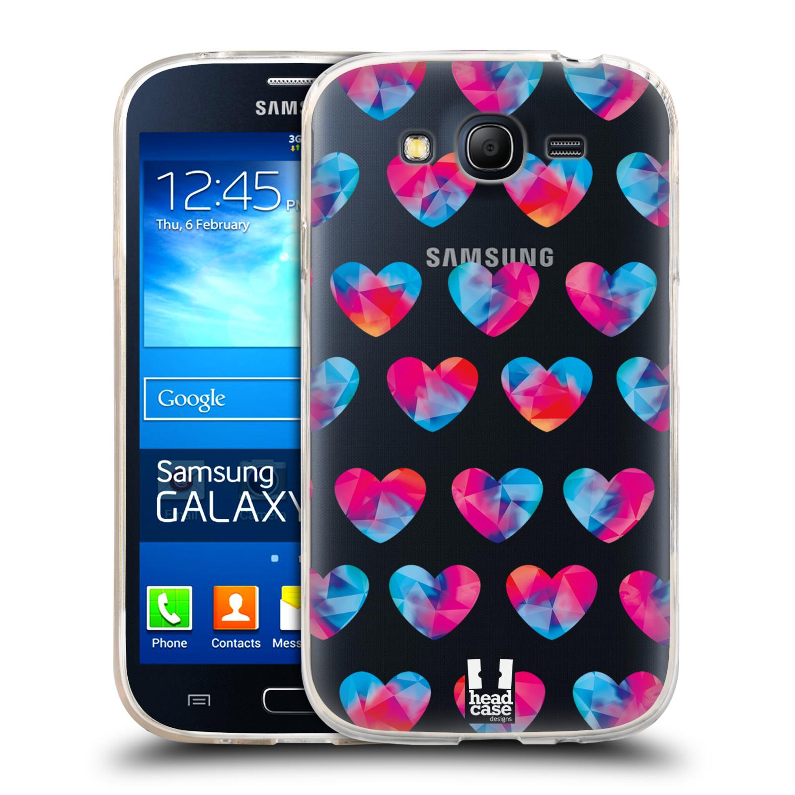 Silikonové pouzdro na mobil Samsung Galaxy Grand Neo - Head Case - Srdíčka hrající barvami