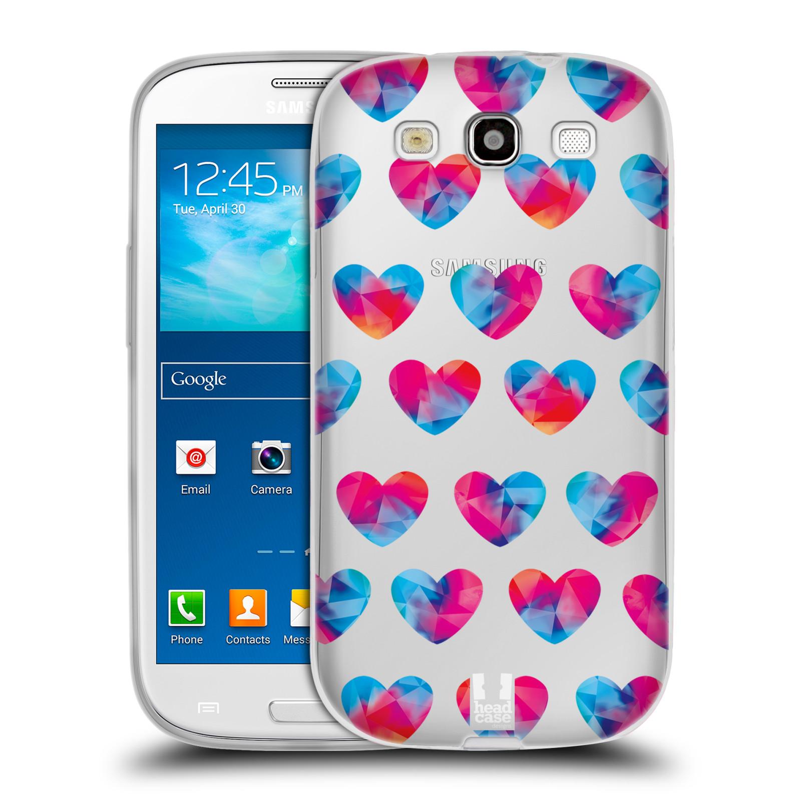 Silikonové pouzdro na mobil Samsung Galaxy S3 Neo - Head Case - Srdíčka hrající barvami