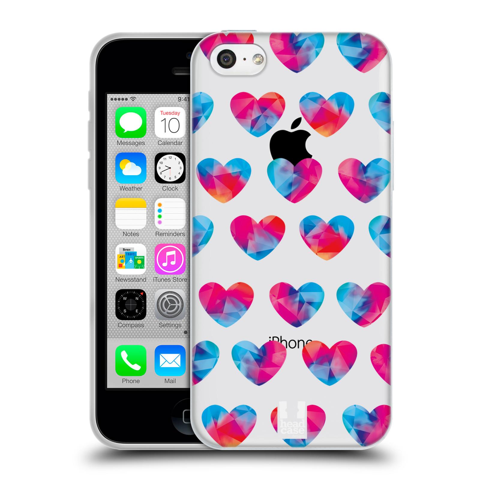 Silikonové pouzdro na mobil Apple iPhone 5C - Head Case - Srdíčka hrající barvami