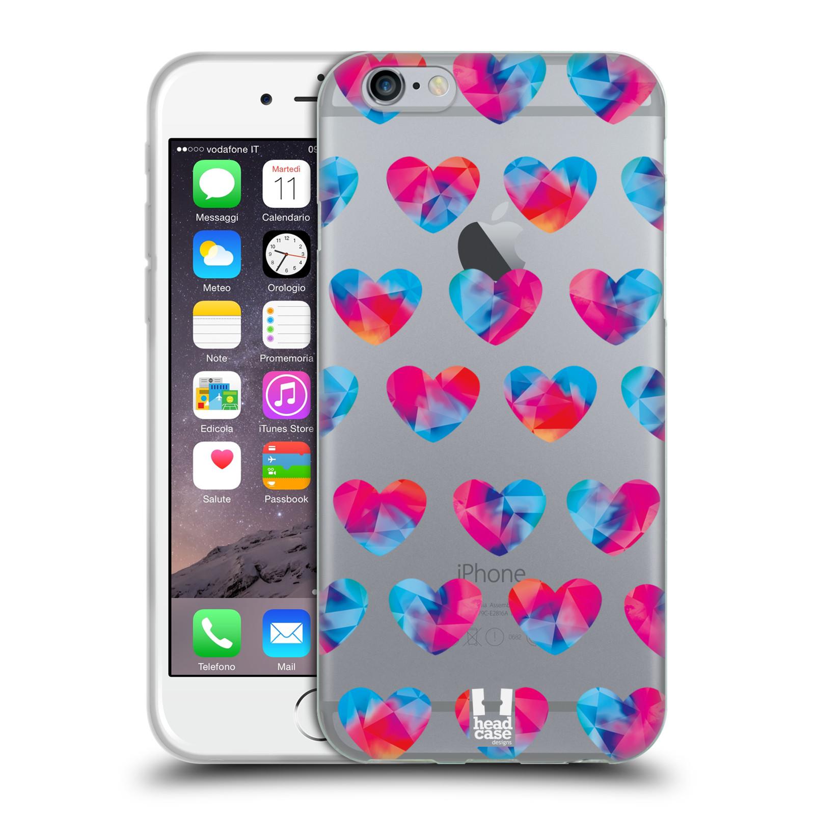 Silikonové pouzdro na mobil Apple iPhone 6 - Head Case - Srdíčka hrající barvami