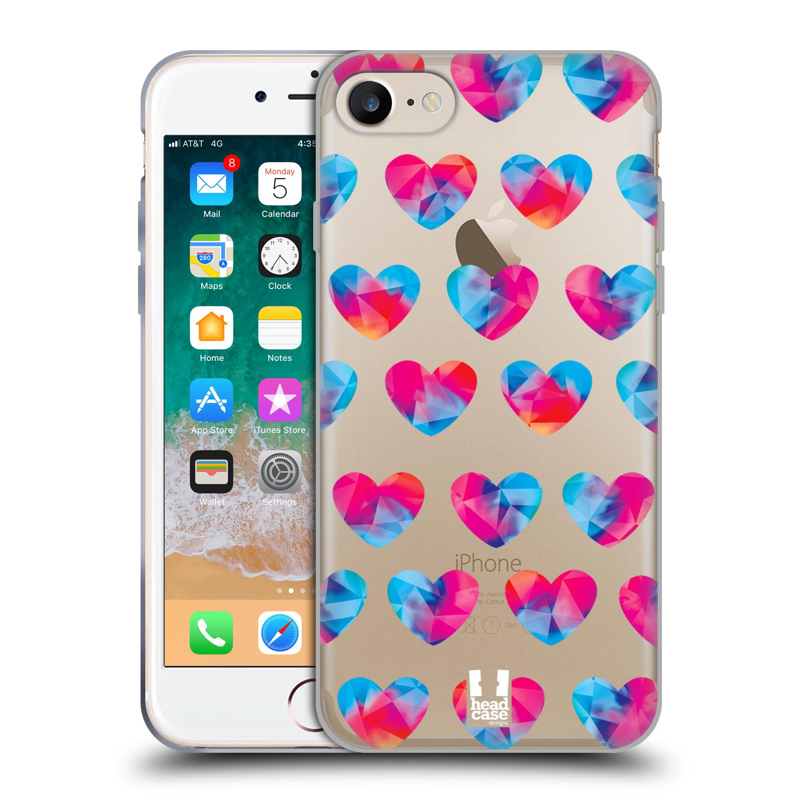 Silikonové pouzdro na mobil Apple iPhone 8 - Head Case - Srdíčka hrající barvami