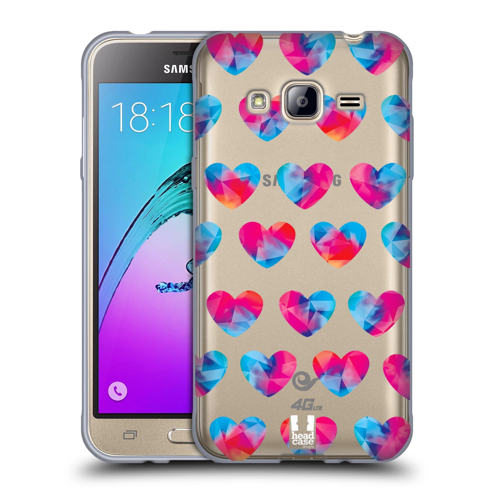 Silikonové pouzdro na mobil Samsung Galaxy J3 (2016) - Head Case - Srdíčka hrající barvami