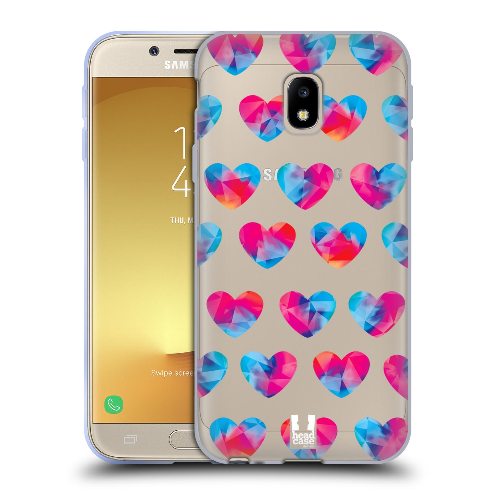Silikonové pouzdro na mobil Samsung Galaxy J3 (2017) - Head Case - Srdíčka hrající barvami