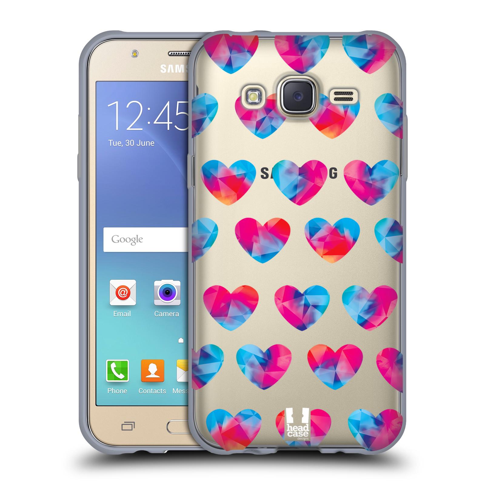 Silikonové pouzdro na mobil Samsung Galaxy J5 - Head Case - Srdíčka hrající barvami