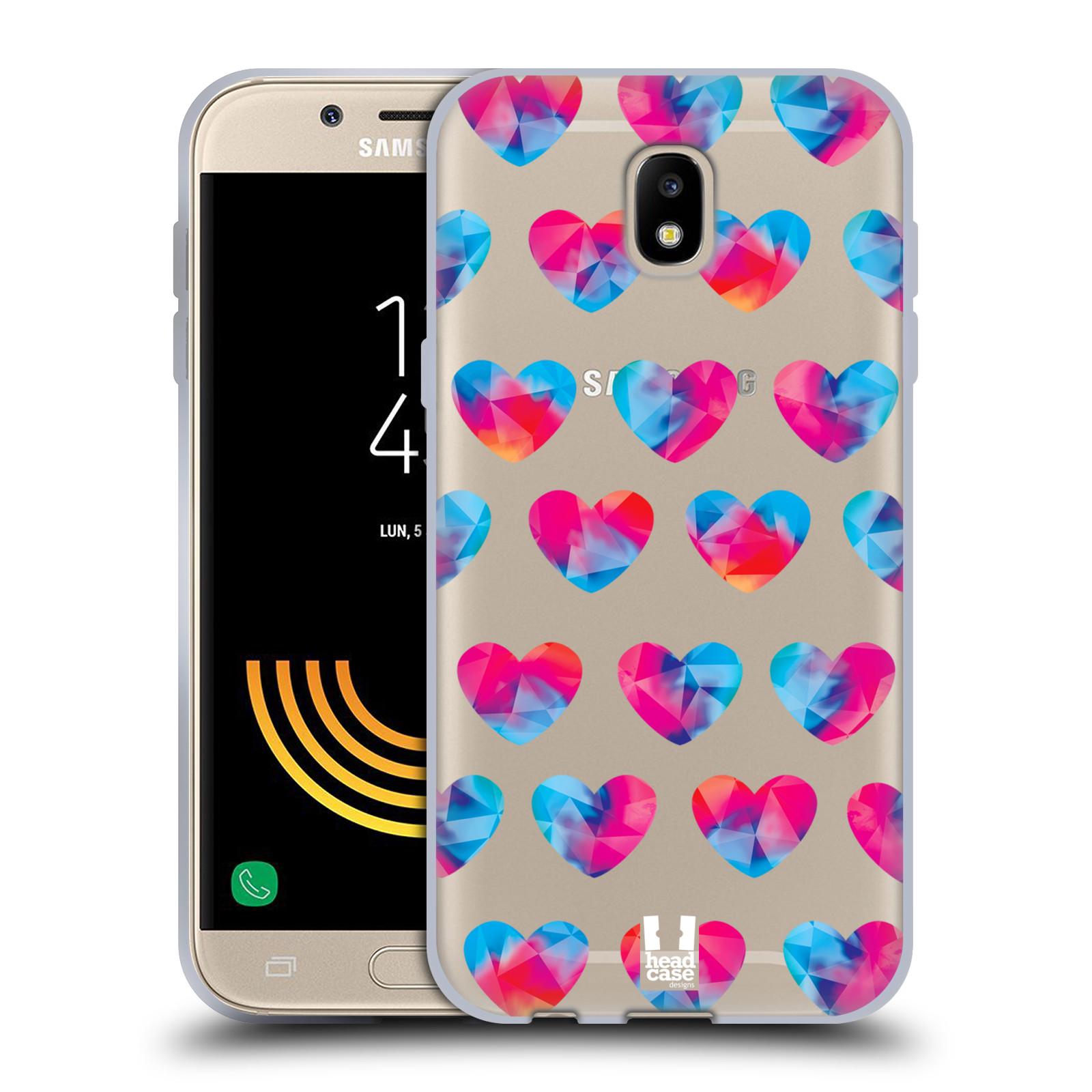Silikonové pouzdro na mobil Samsung Galaxy J5 (2017) - Head Case - Srdíčka hrající barvami