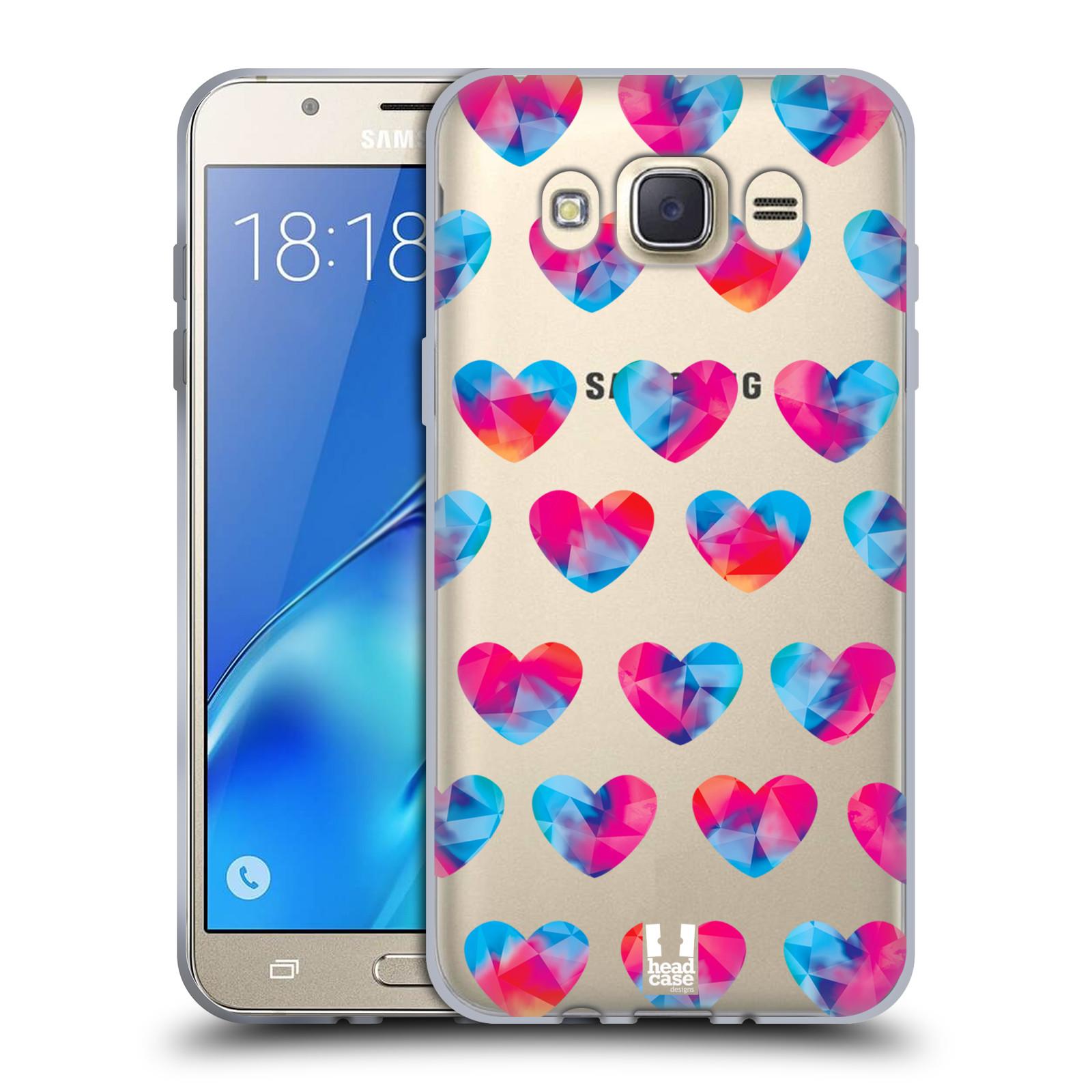 Silikonové pouzdro na mobil Samsung Galaxy J7 (2016) - Head Case - Srdíčka hrající barvami