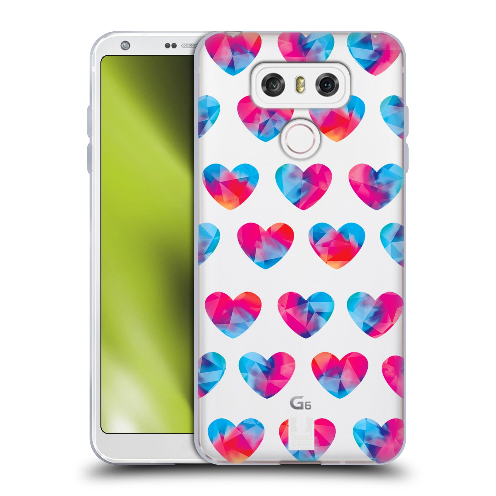 Silikonové pouzdro na mobil LG G6 - Head Case - Srdíčka hrající barvami