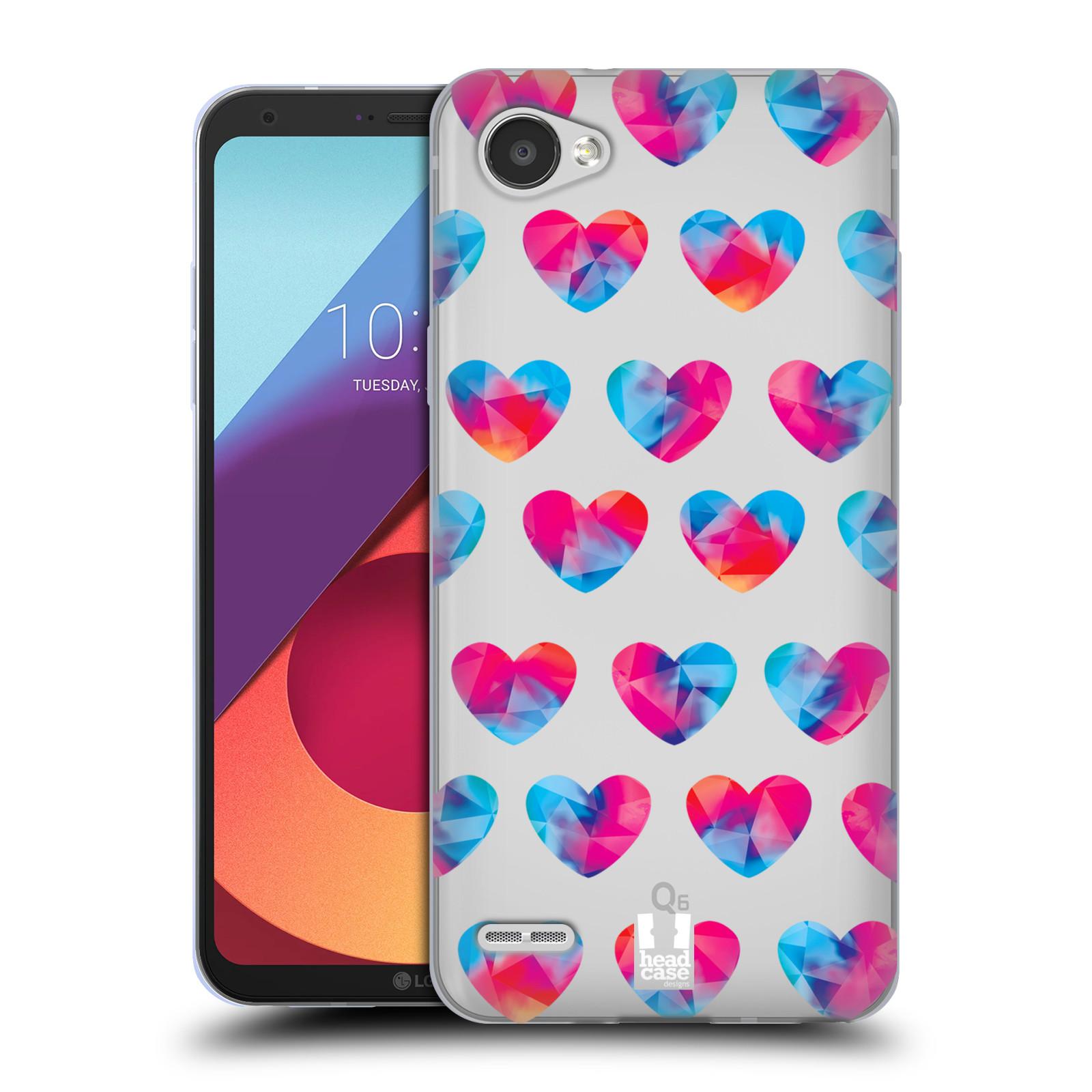 Silikonové pouzdro na mobil LG Q6 - Head Case - Srdíčka hrající barvami