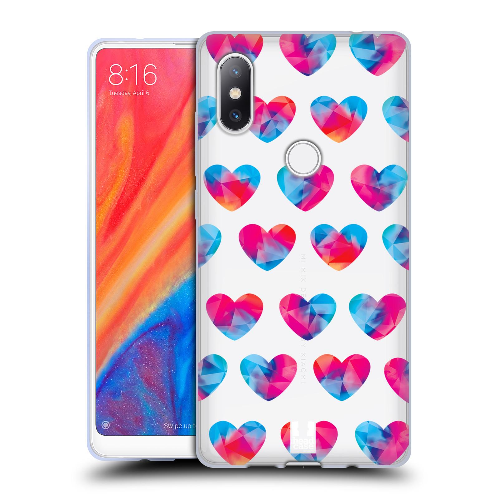 Silikonové pouzdro na mobil Xiaomi Mi Mix 2S - Head Case - Srdíčka hrající barvami