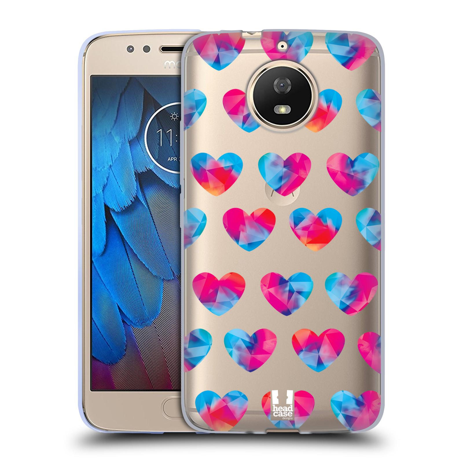 Silikonové pouzdro na mobil Lenovo Moto G5s - Head Case - Srdíčka hrající barvami