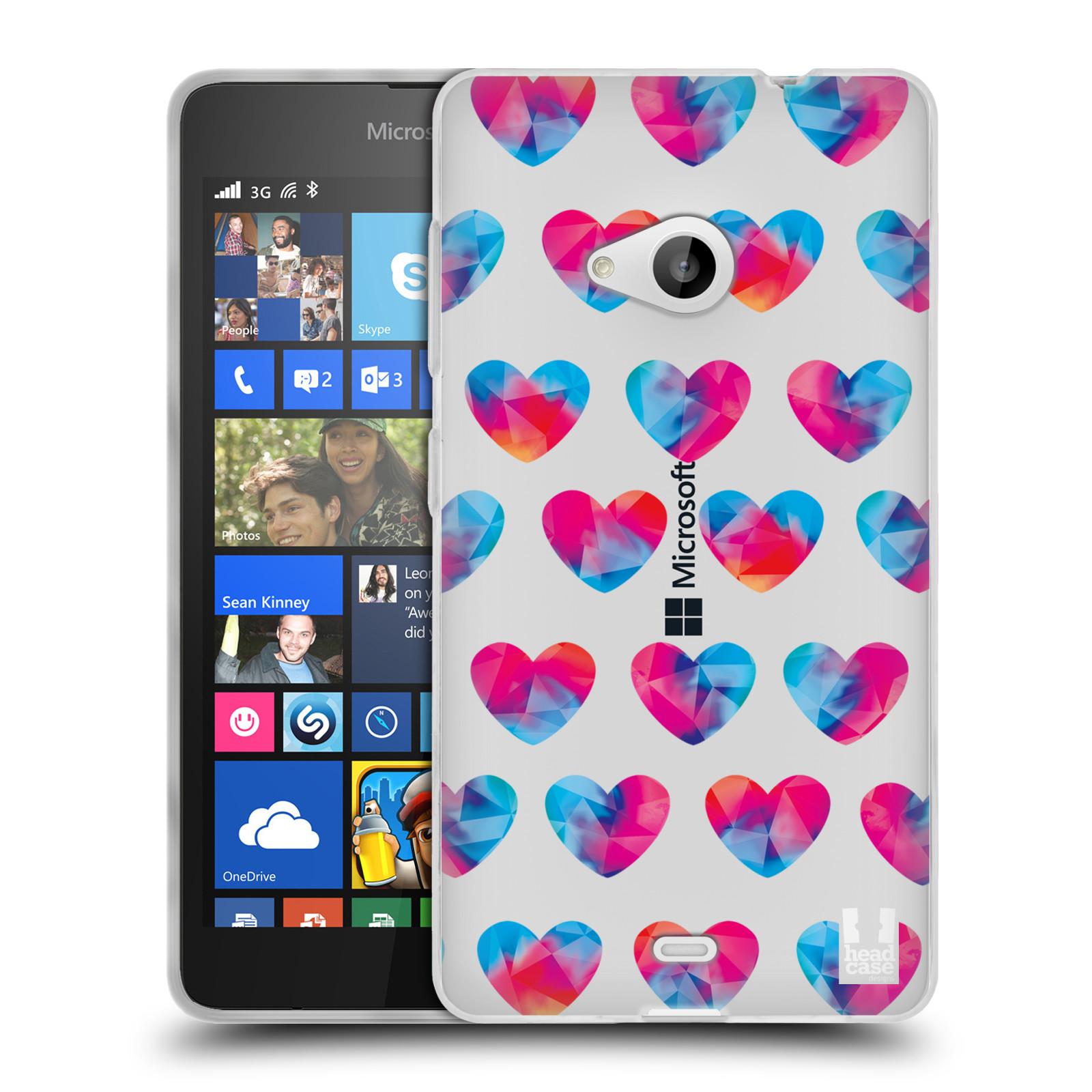 Silikonové pouzdro na mobil Microsoft Lumia 535 - Head Case - Srdíčka hrající barvami