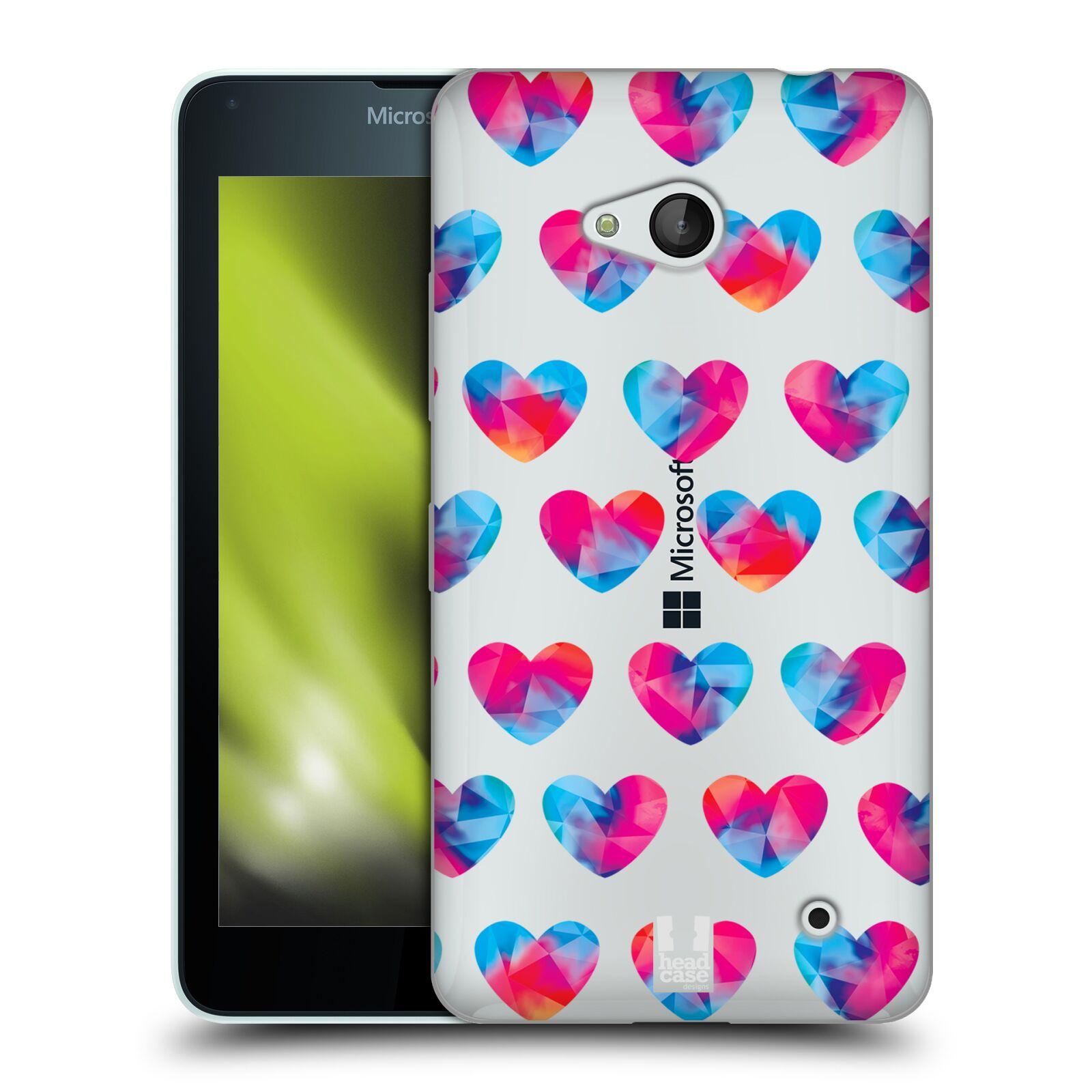Silikonové pouzdro na mobil Microsoft Lumia 640 - Head Case - Srdíčka hrající barvami
