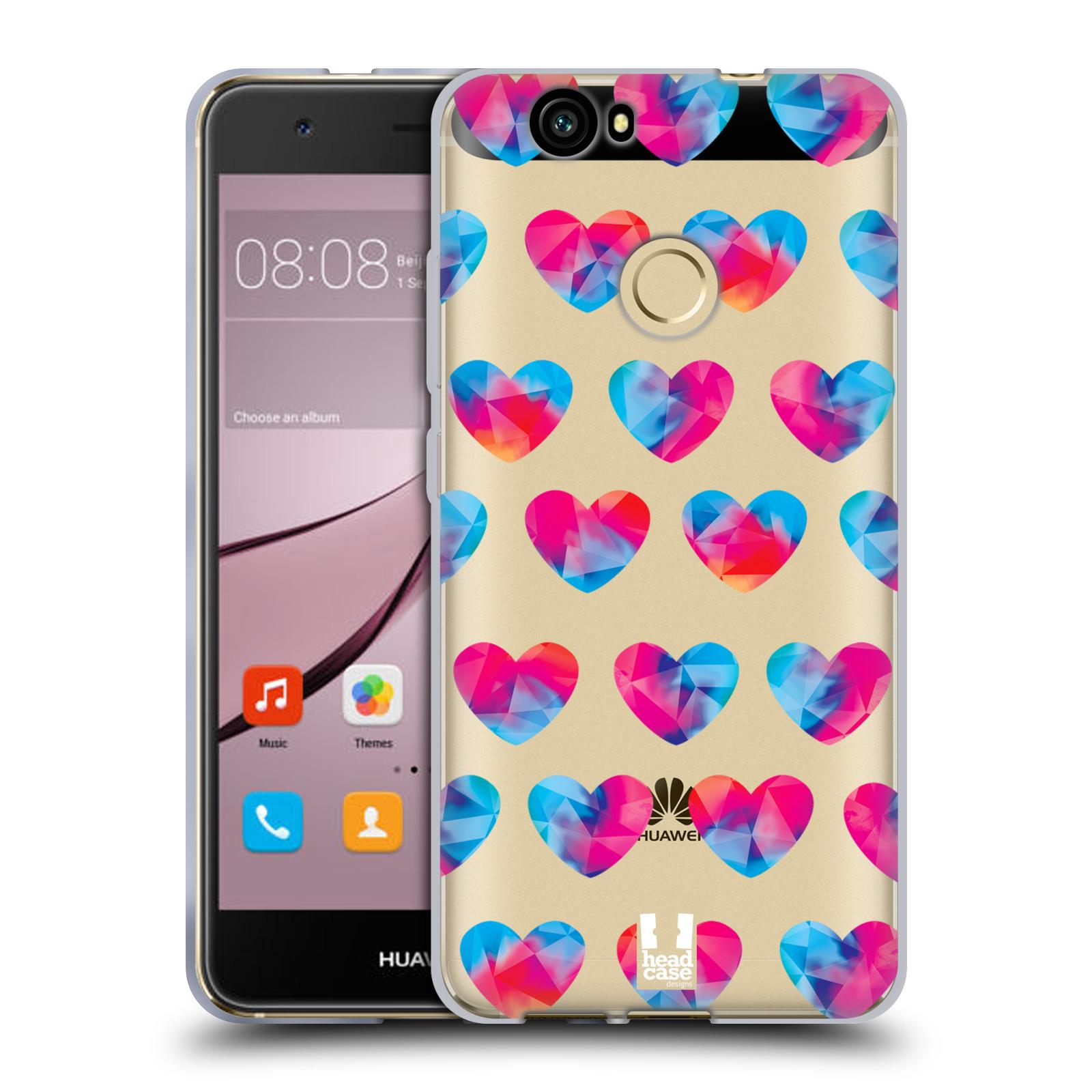 Silikonové pouzdro na mobil Huawei Nova - Head Case - Srdíčka hrající barvami