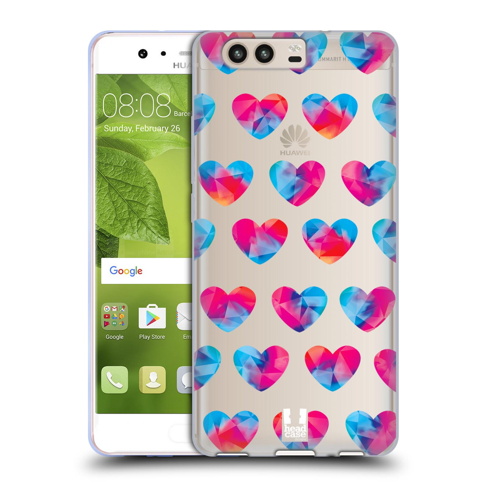 Silikonové pouzdro na mobil Huawei P10 - Head Case - Srdíčka hrající barvami