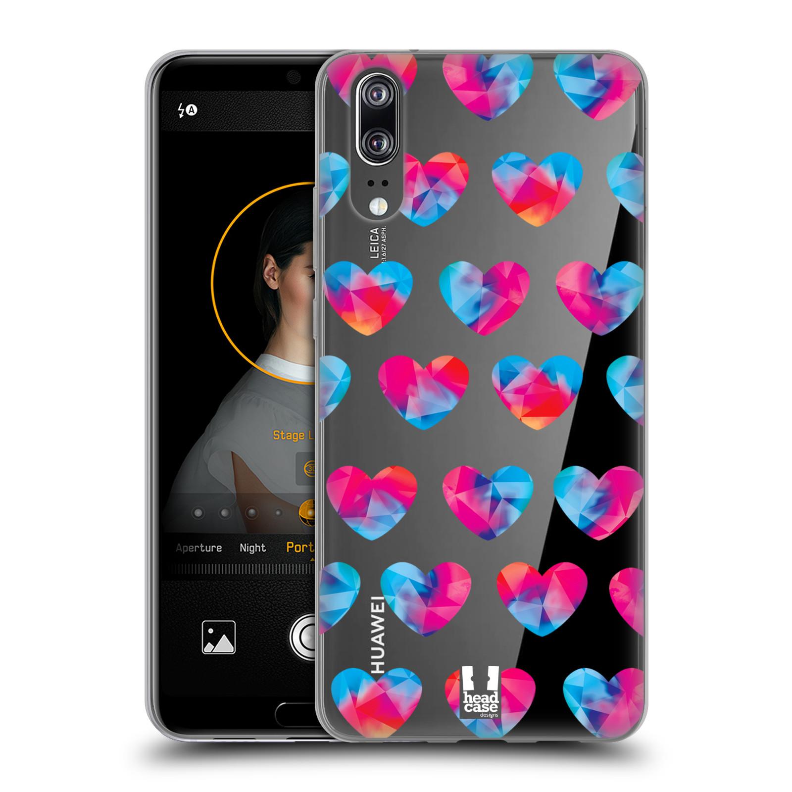 Silikonové pouzdro na mobil Huawei P20 - Head Case - Srdíčka hrající barvami