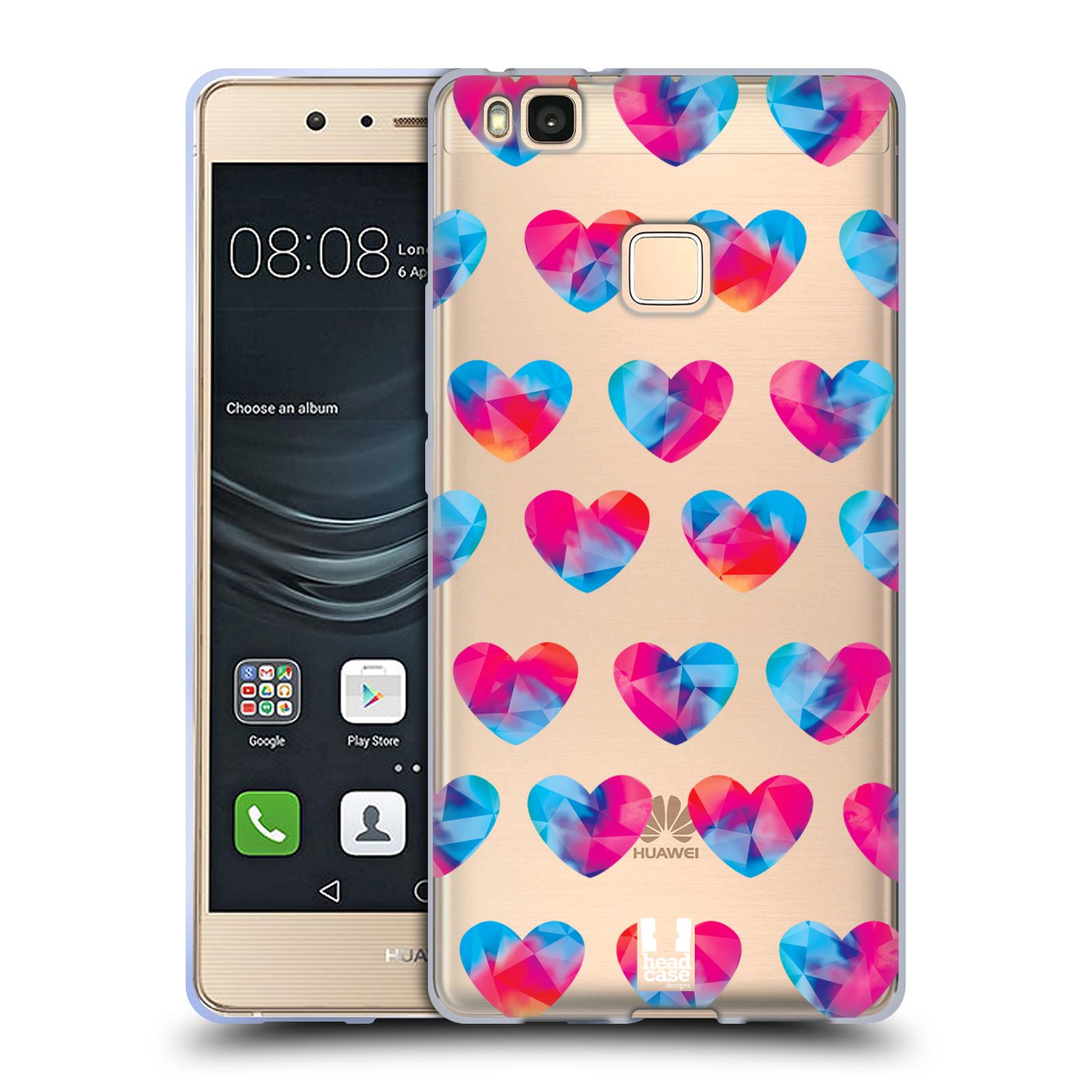 Silikonové pouzdro na mobil Huawei P9 Lite - Head Case - Srdíčka hrající barvami