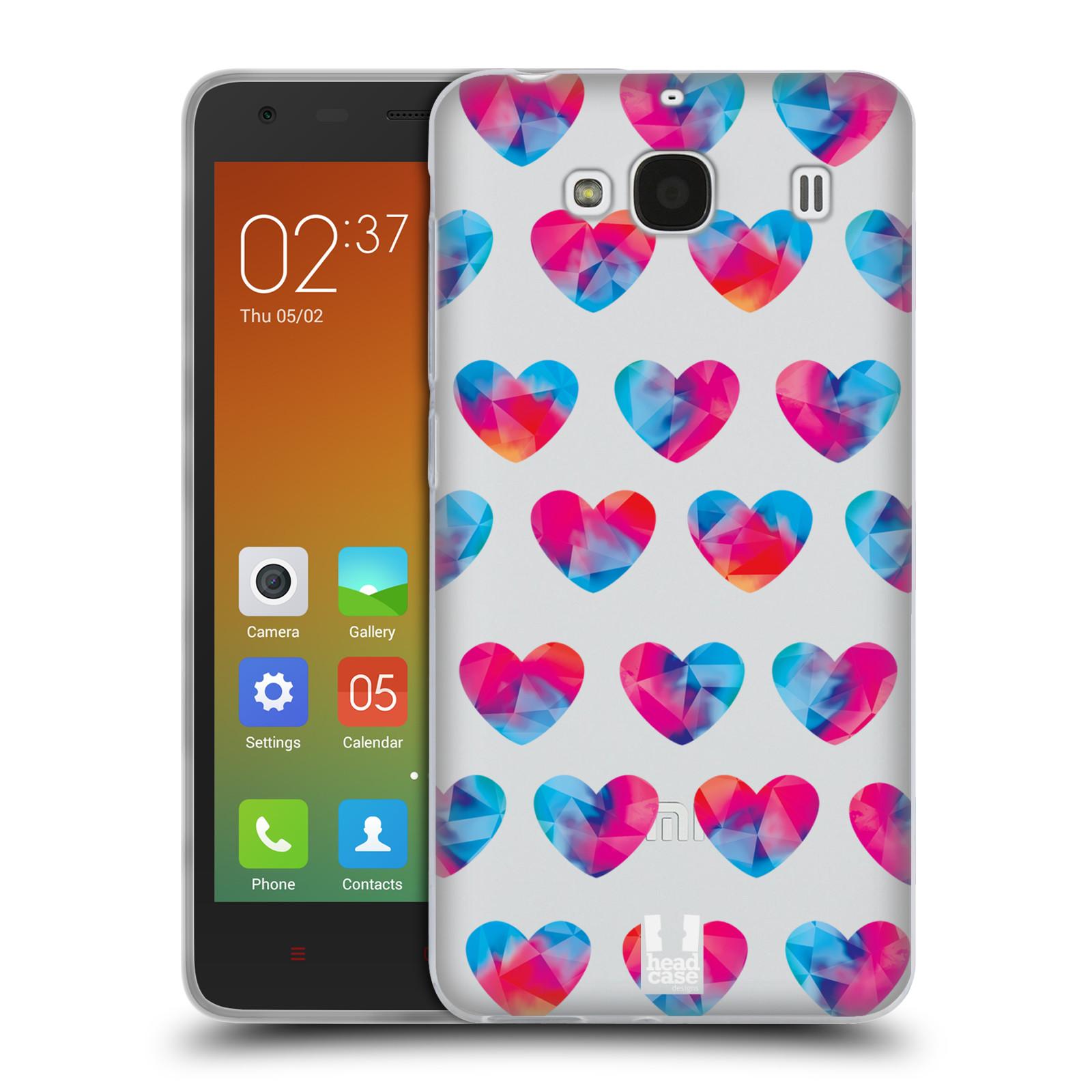 Silikonové pouzdro na mobil Xiaomi Redmi 2 - Head Case - Srdíčka hrající barvami