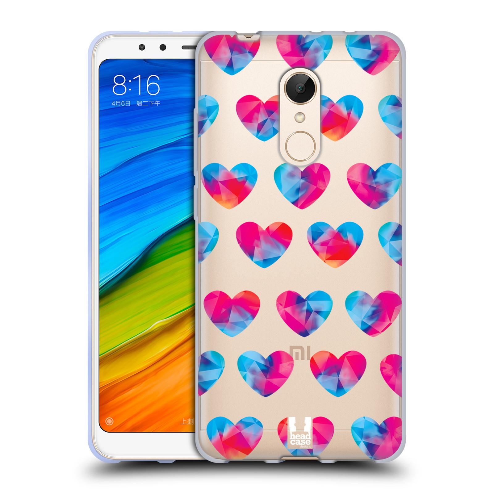 Silikonové pouzdro na mobil Xiaomi Redmi 5 - Head Case - Srdíčka hrající barvami