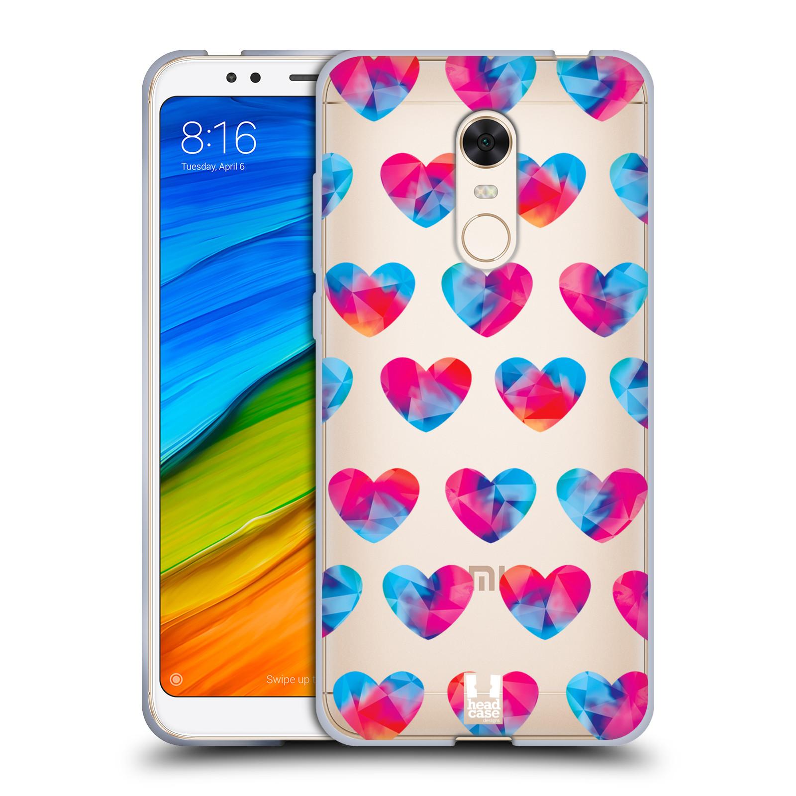 Silikonové pouzdro na mobil Xiaomi Redmi 5 Plus - Head Case - Srdíčka hrající barvami
