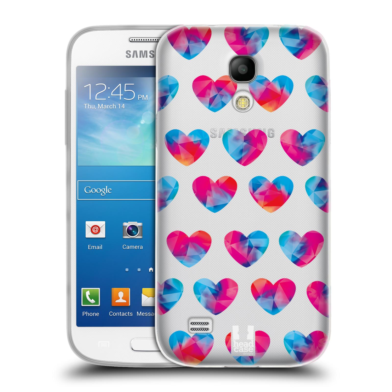 Silikonové pouzdro na mobil Samsung Galaxy S4 Mini VE - Head Case - Srdíčka hrající barvami