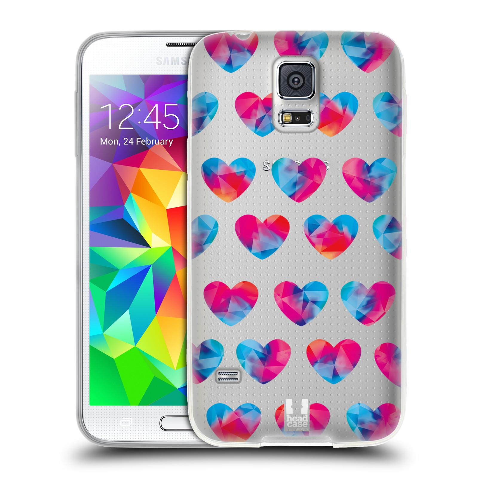 Silikonové pouzdro na mobil Samsung Galaxy S5 - Head Case - Srdíčka hrající barvami