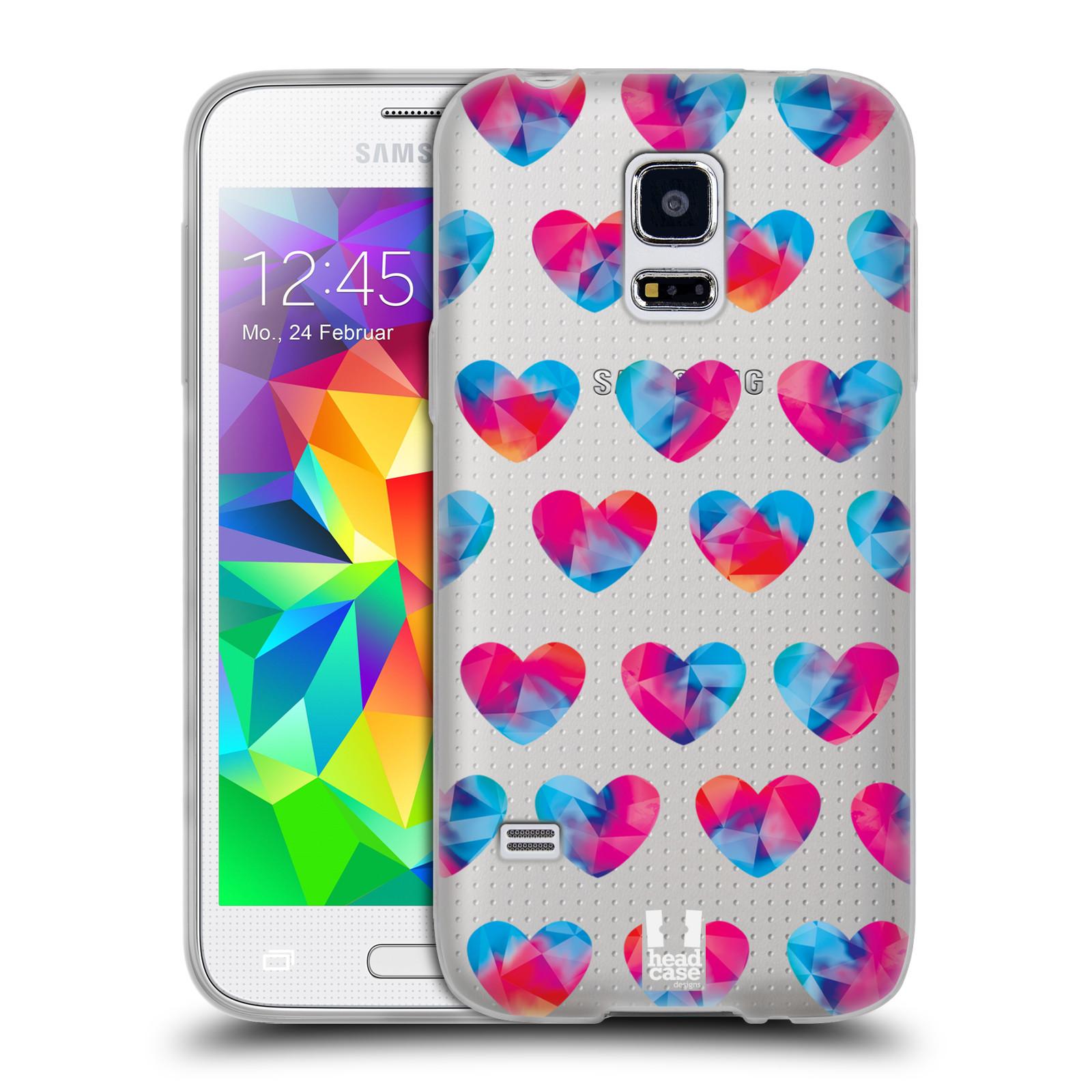 Silikonové pouzdro na mobil Samsung Galaxy S5 Mini - Head Case - Srdíčka hrající barvami