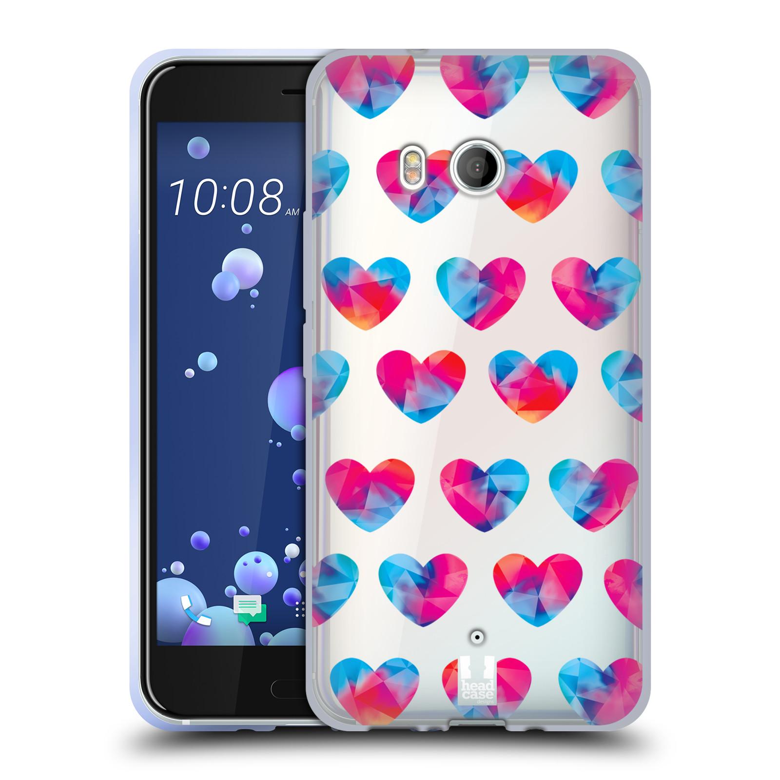 Silikonové pouzdro na mobil HTC U11 - Head Case - Srdíčka hrající barvami