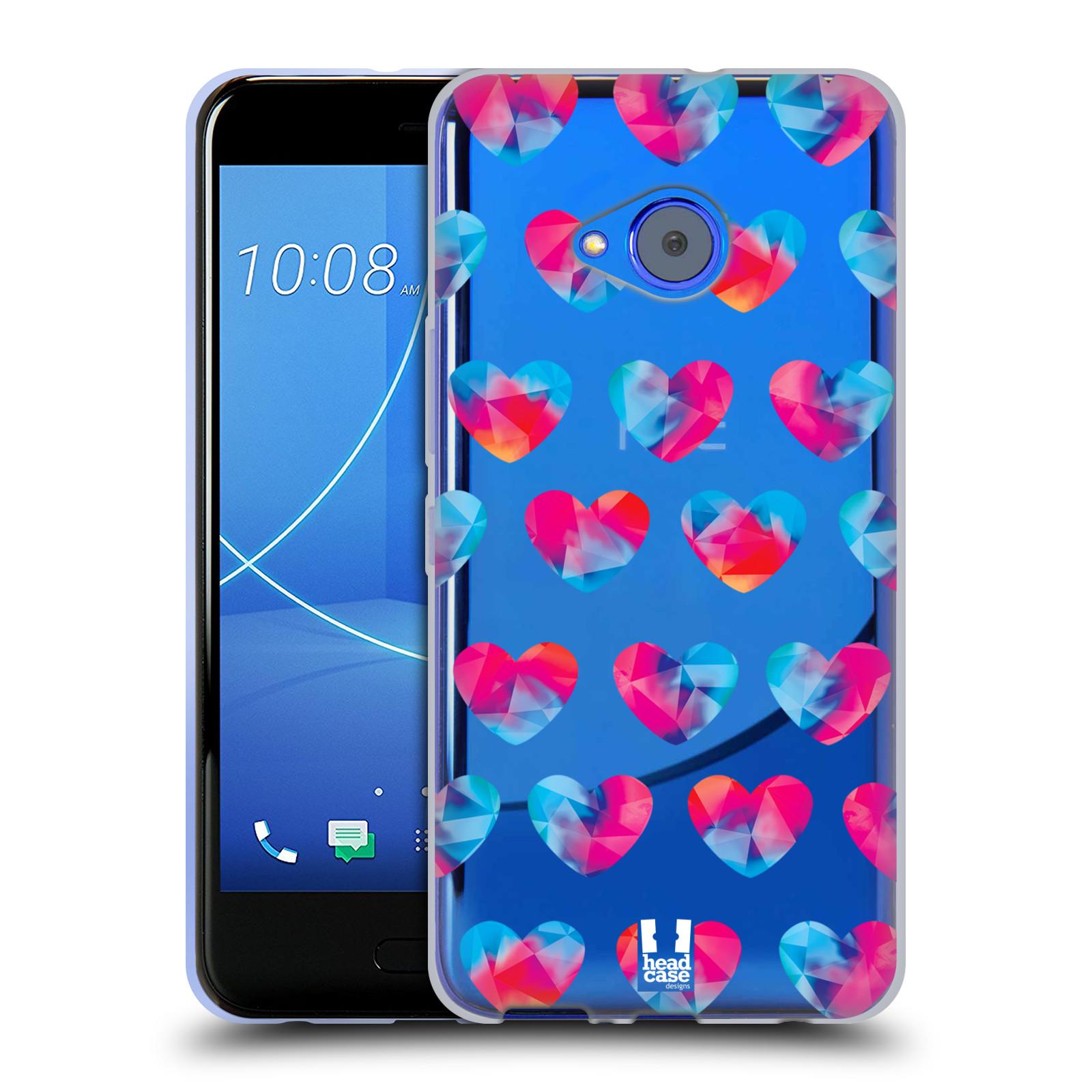 Silikonové pouzdro na mobil HTC U11 Life - Head Case - Srdíčka hrající barvami
