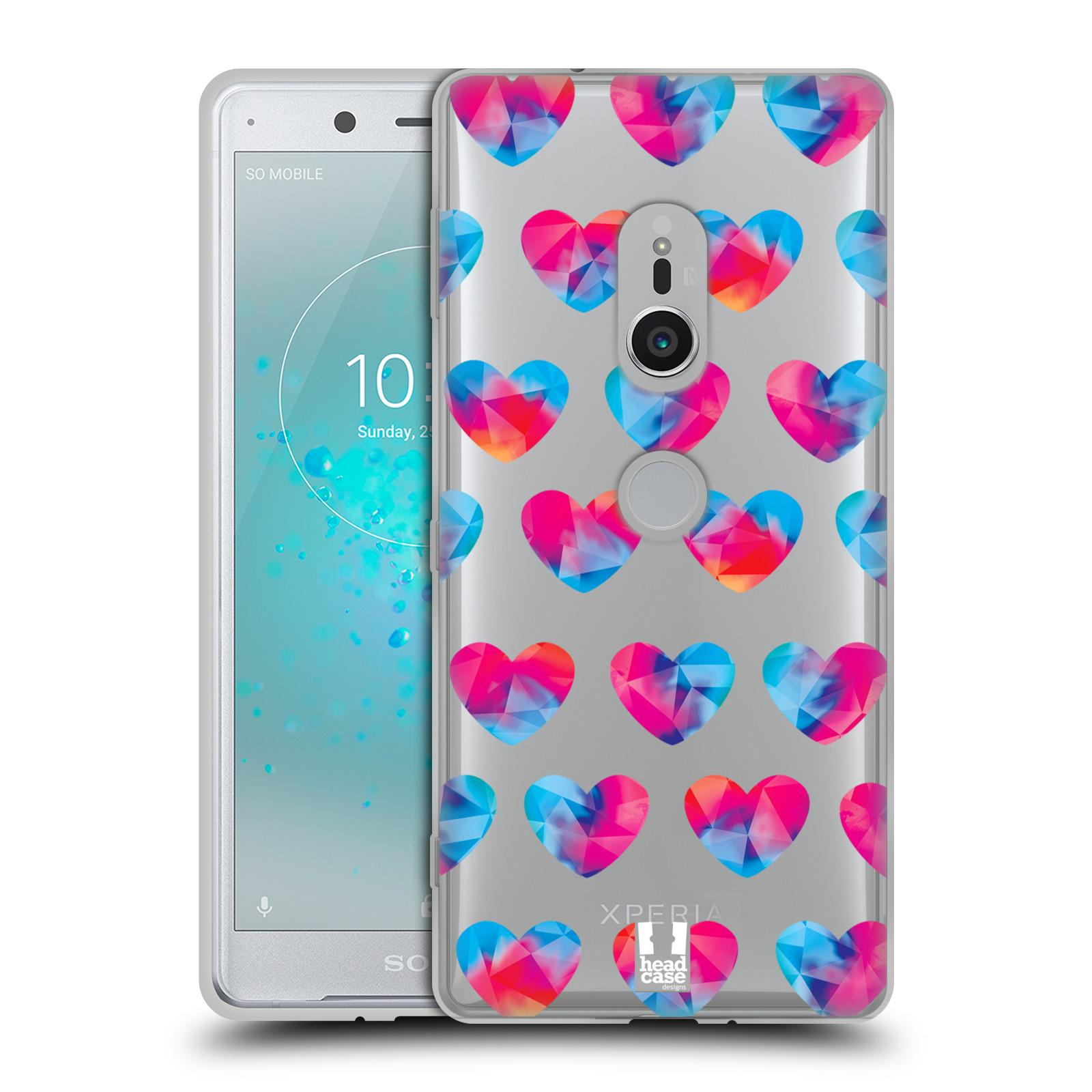 Silikonové pouzdro na mobil Sony Xperia XZ2 - Head Case - Srdíčka hrající barvami