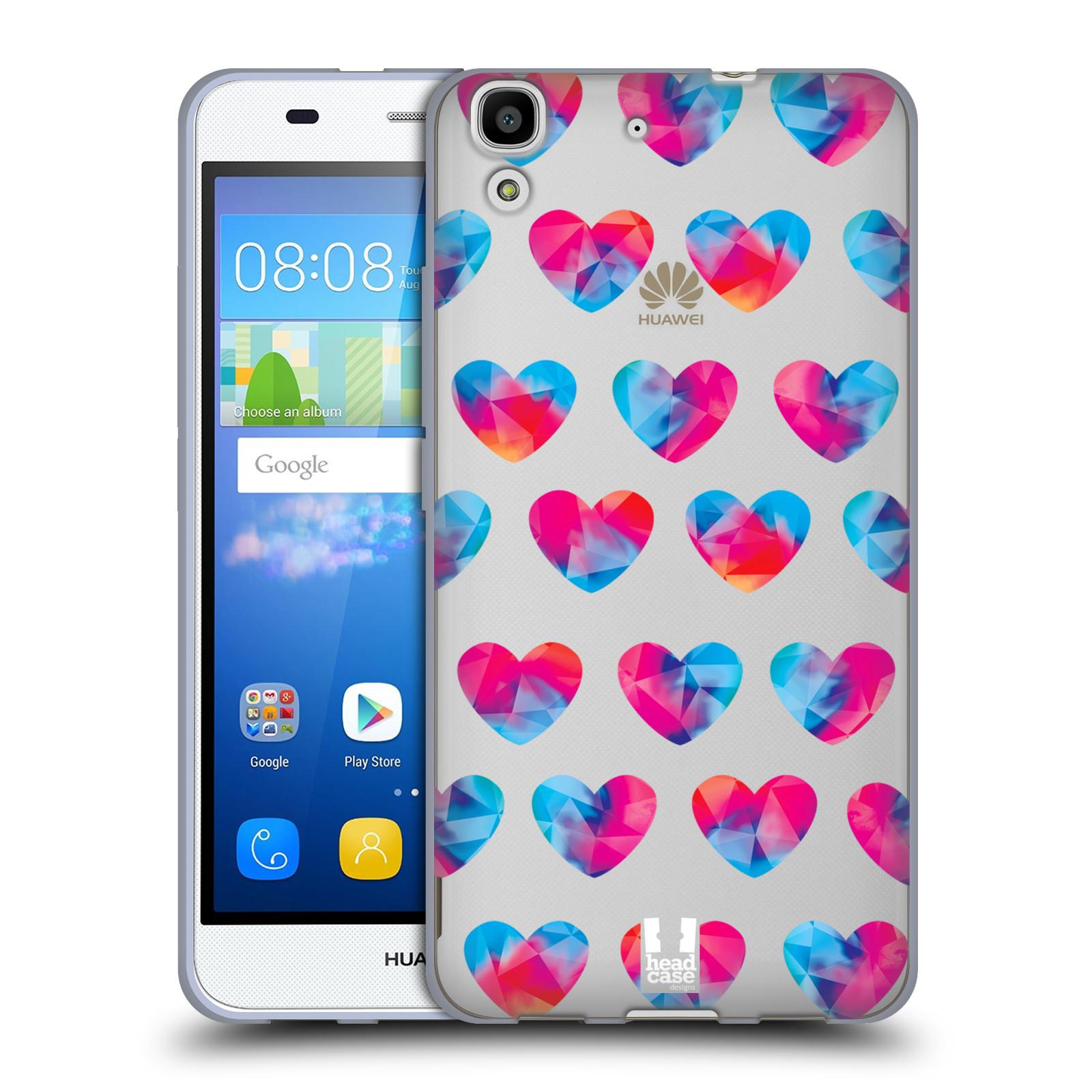 Silikonové pouzdro na mobil Huawei Y6 - Head Case - Srdíčka hrající barvami