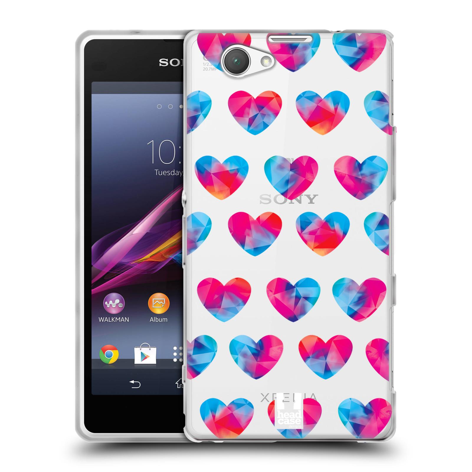 Silikonové pouzdro na mobil Sony Xperia Z1 Compact D5503 - Head Case - Srdíčka hrající barvami