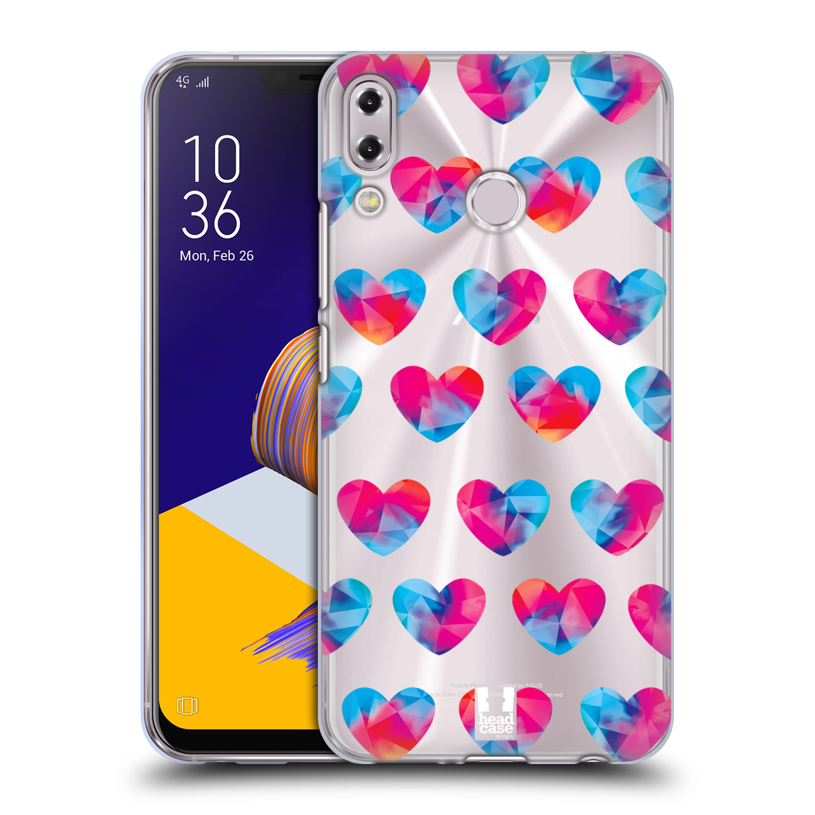 Silikonové pouzdro na mobil Asus Zenfone 5z ZS620KL - Head Case - Srdíčka hrající barvami