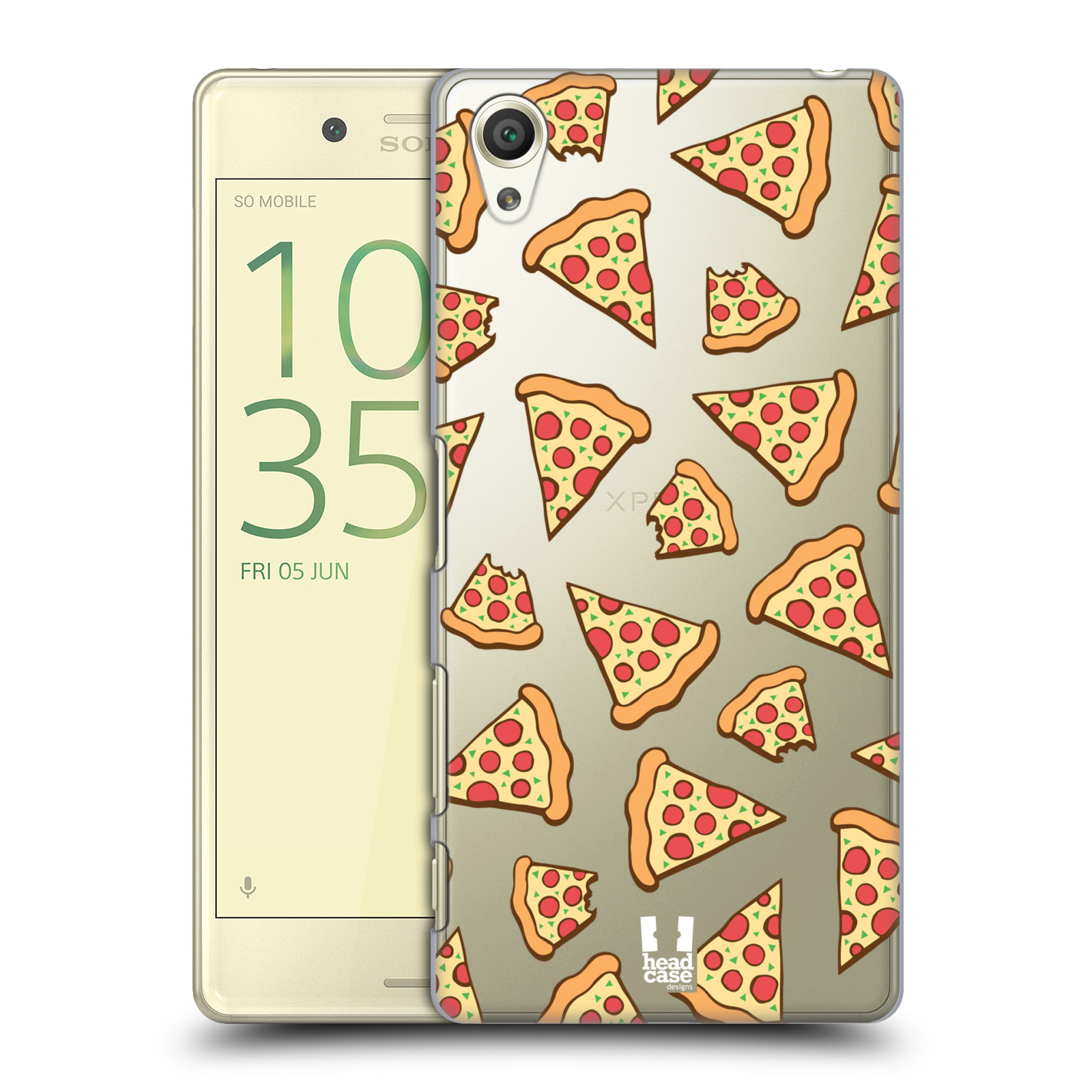 Plastové pouzdro na mobil Sony Xperia X - Head Case - Pizza