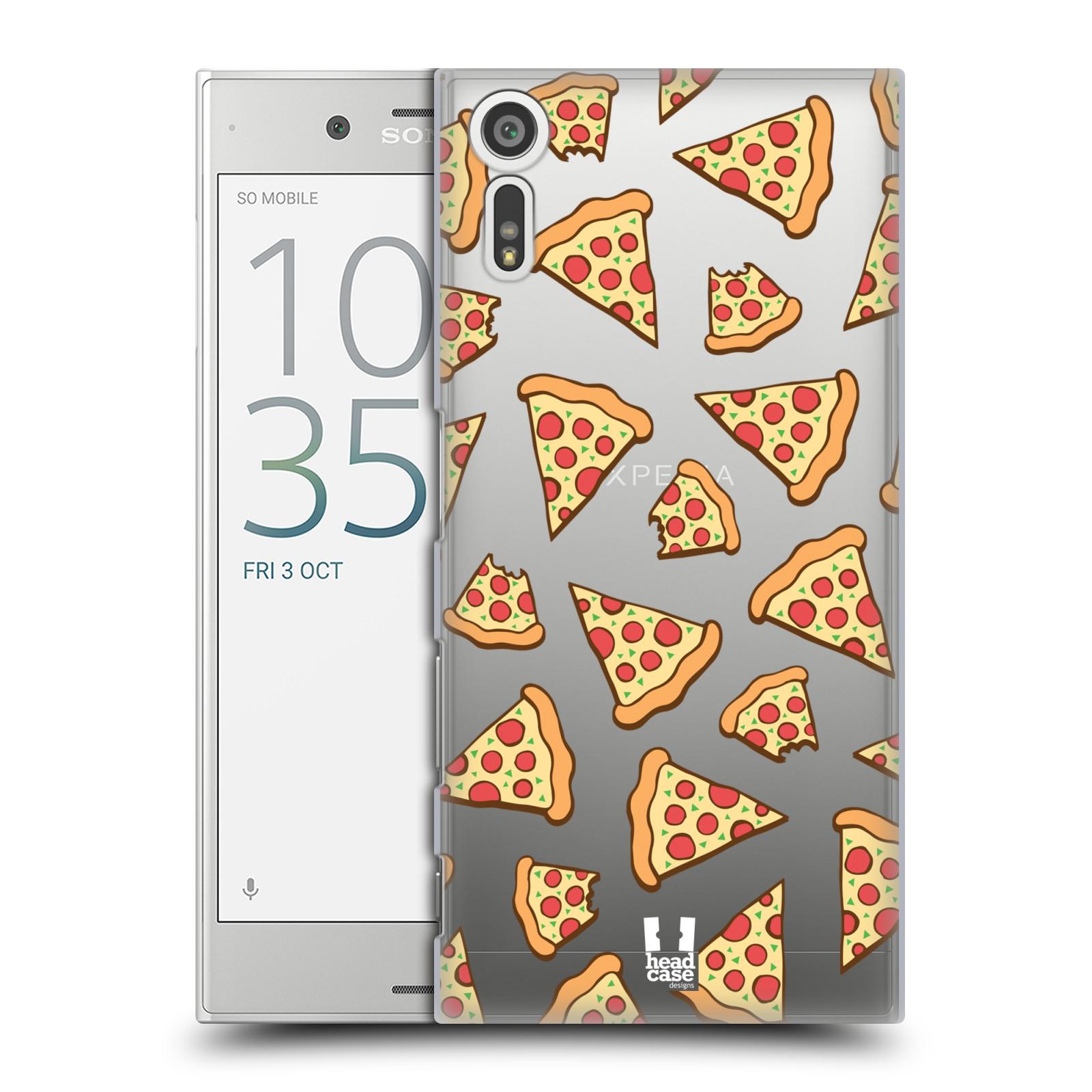 Plastové pouzdro na mobil Sony Xperia XZ - Head Case - Pizza (Plastový kryt či obal na mobilní telefon s motivem Pizza pro Sony Xperia XZ F8331 / Sony Xperia XZ Dual F8332)
