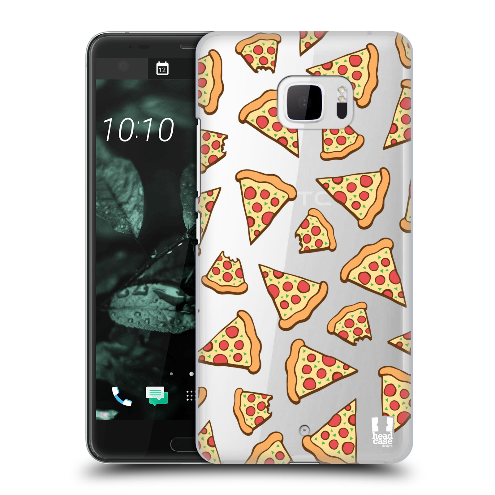 Plastové pouzdro na mobil HTC U Ultra Head Case - Pizza (Plastový kryt či obal na mobilní telefon s motivem Pizza pro HTC U Ultra (99HALT015-00))