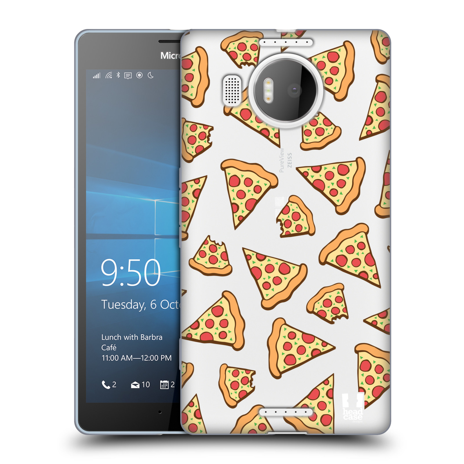 Silikonové pouzdro na mobil Microsoft Lumia 950 XL - Head Case - Pizza