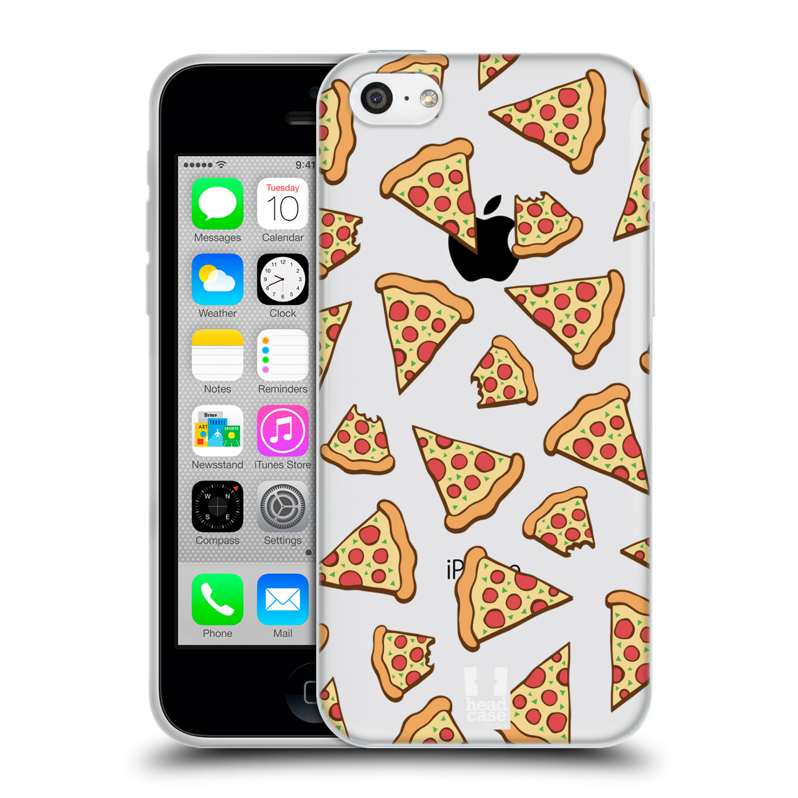 Silikonové pouzdro na mobil Apple iPhone 5C - Head Case - Pizza