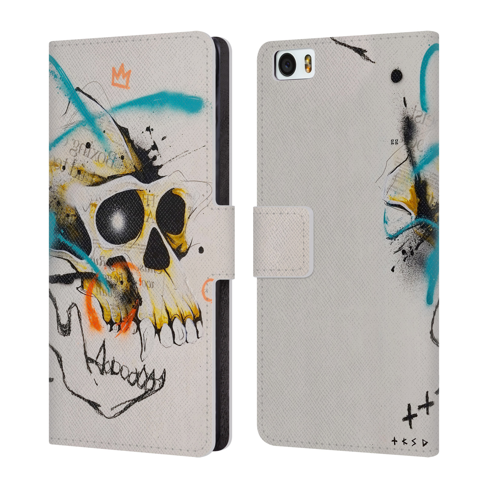 OFFICIAL-TAKA-SUDO-SKULLS-LEATHER-BOOK-WALLET-CASE-COVER-FOR-XIAOMI-PHONES